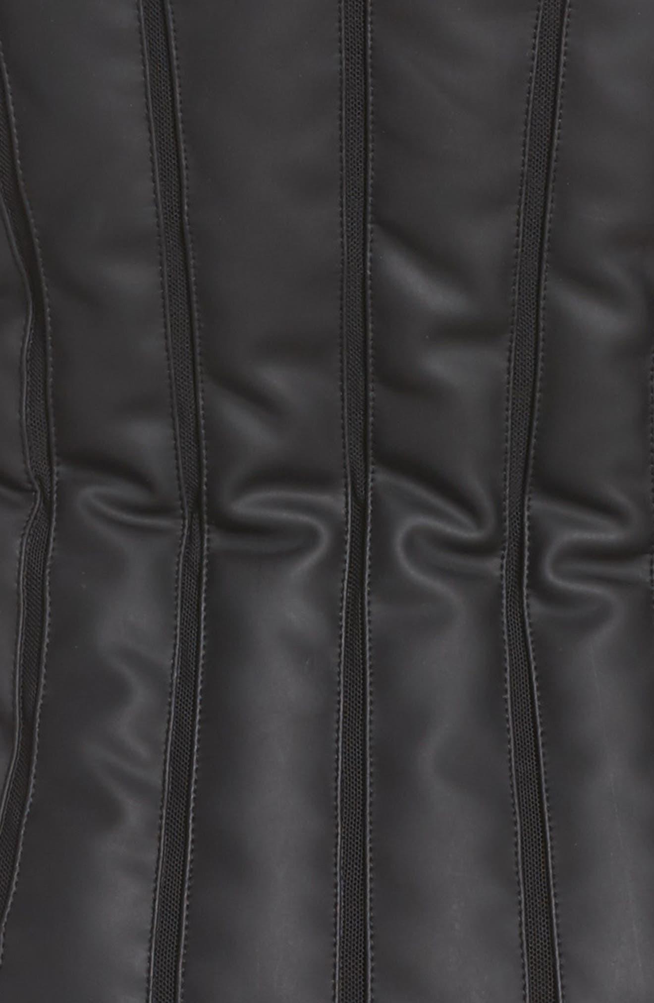 Alternate Image 5  - Blanc Noir Aura Mesh Inset Vest