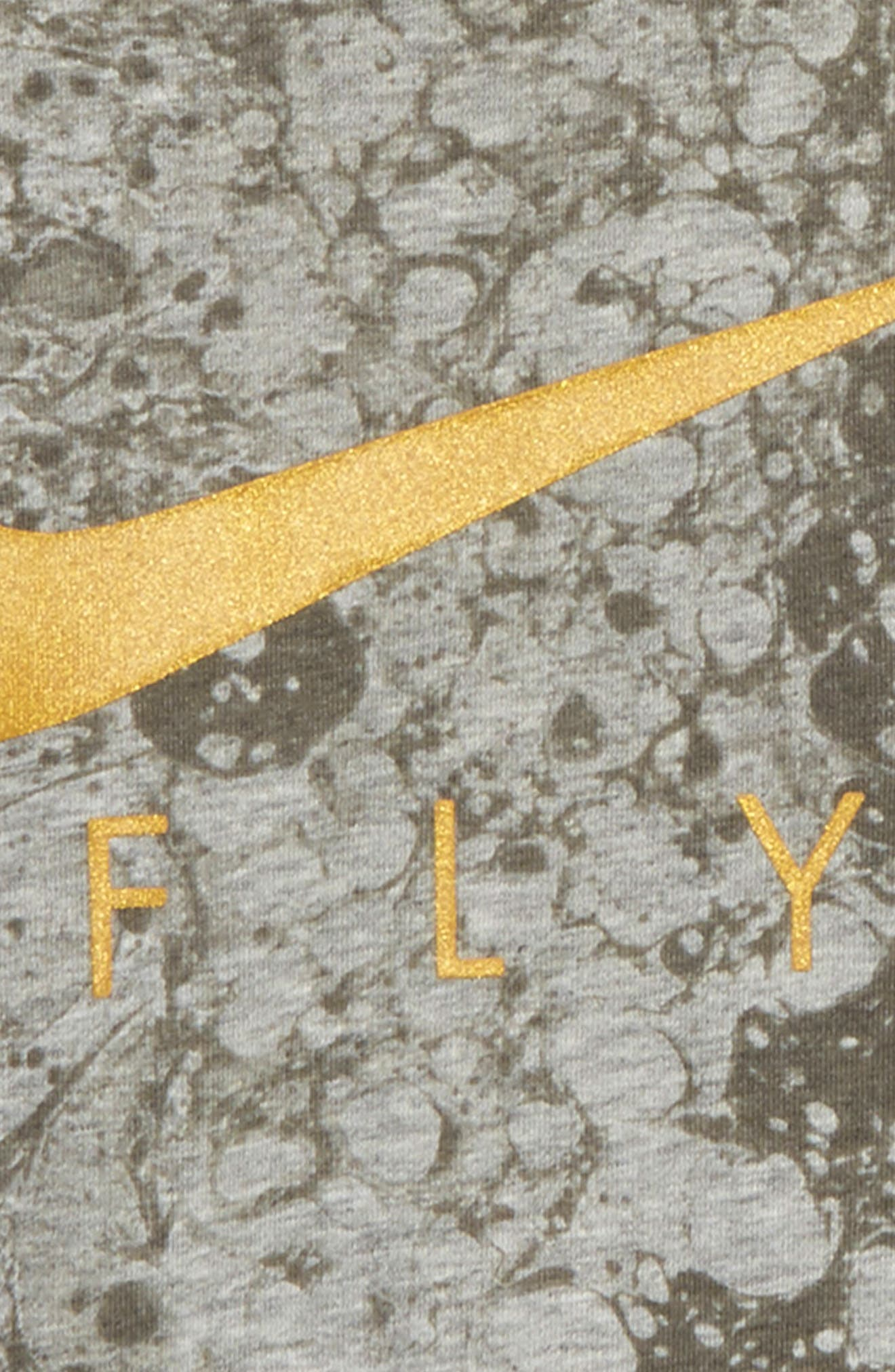 Dry LunarFly Droptail T-Shirt,                             Alternate thumbnail 2, color,                             D Gr H/ M Gold