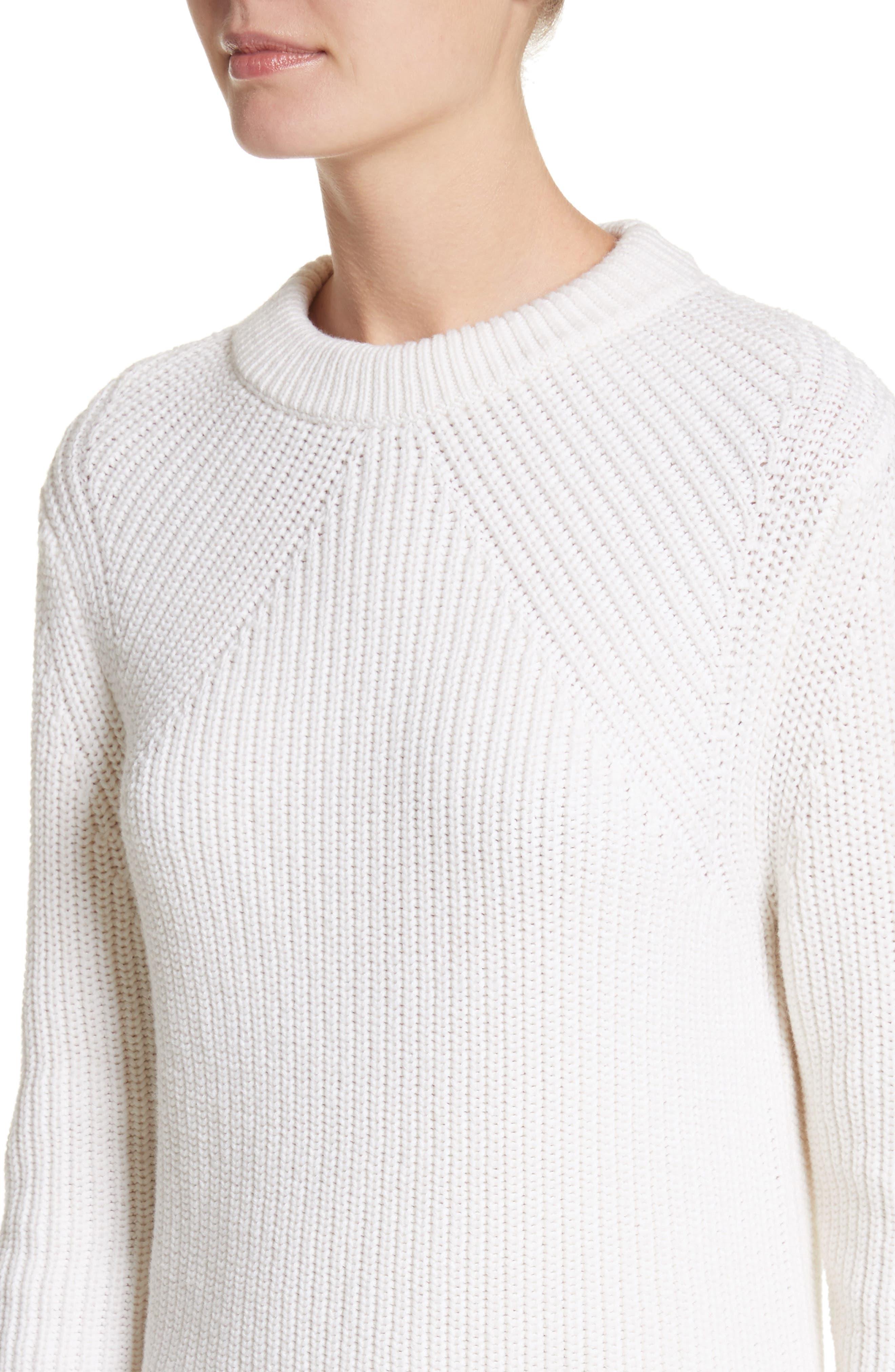 Alternate Image 4  - Michael Kors Merino Wool & Cotton Pullover