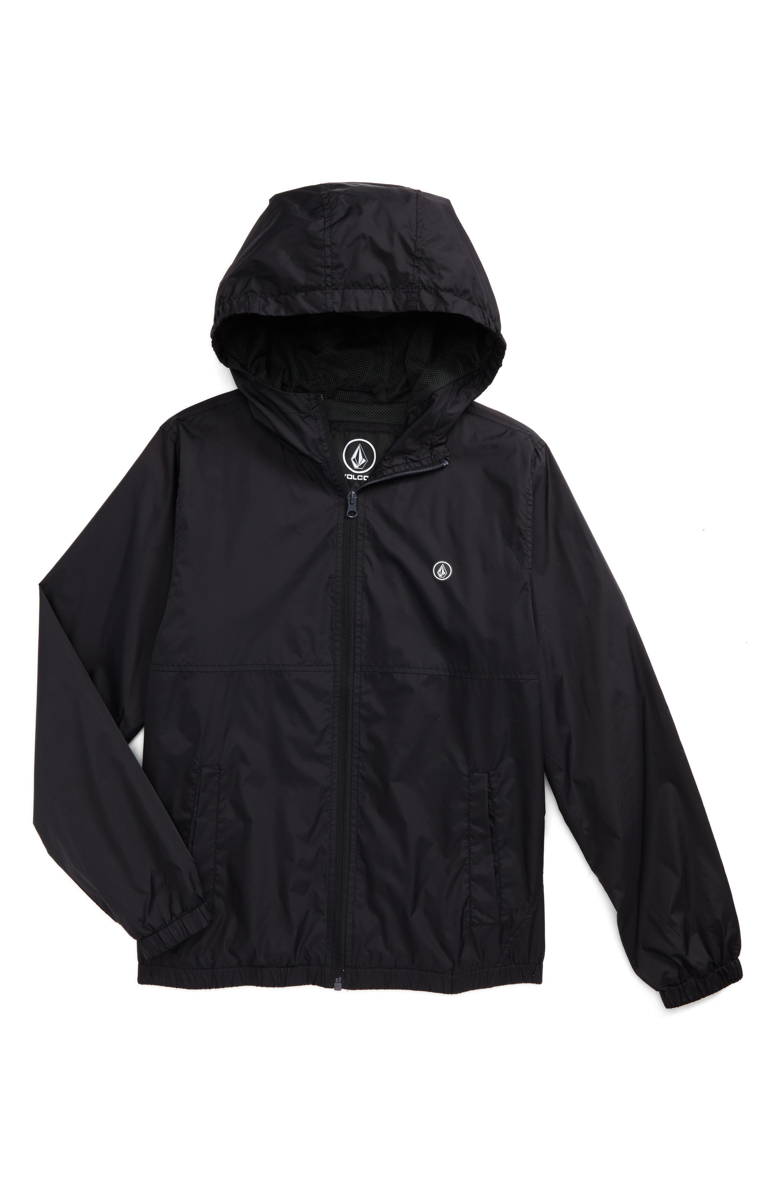Ermont Hooded Nylon Jacket,                         Main,                         color, Black