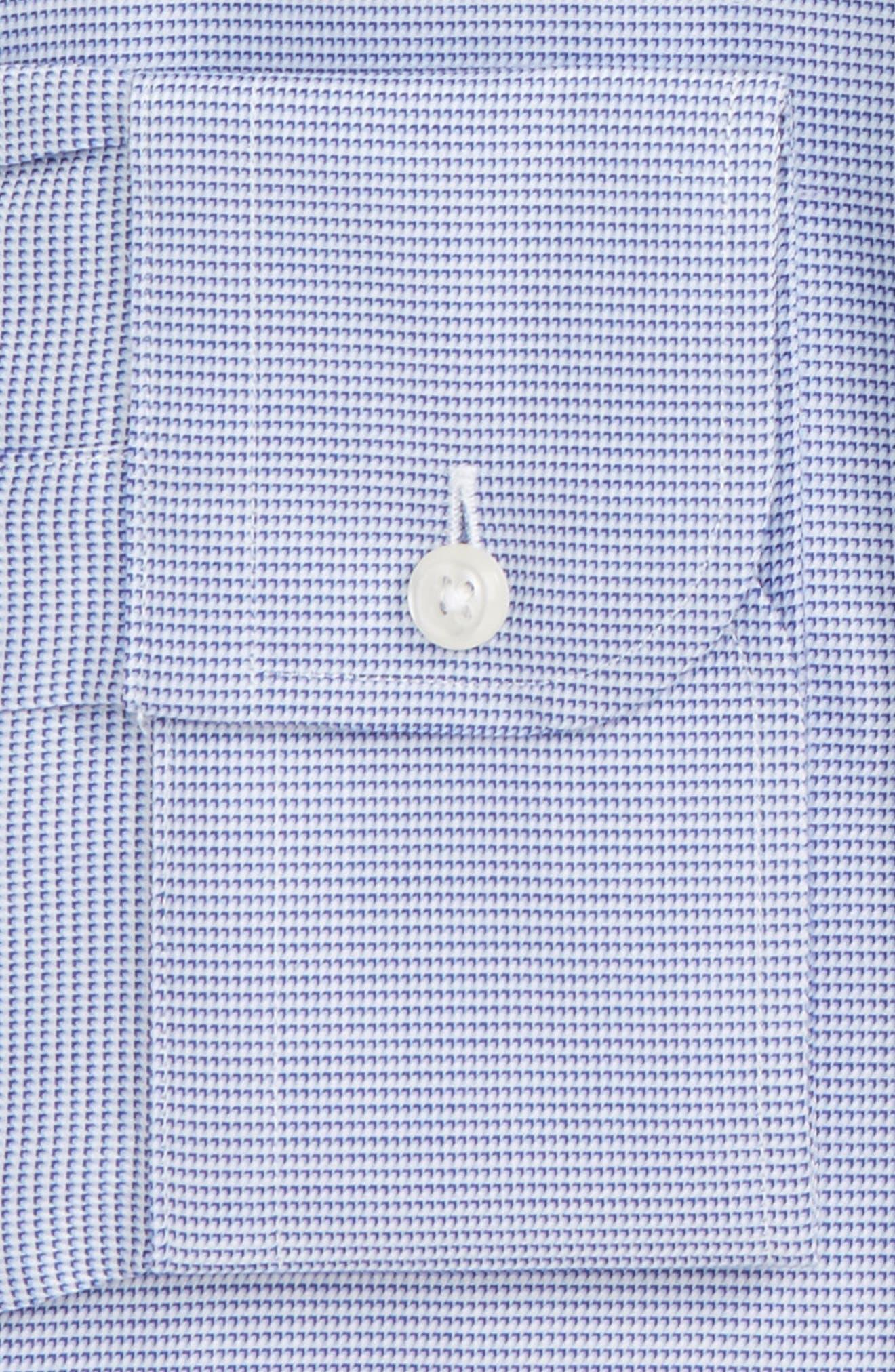 Classic Fit Solid Dress Shirt,                             Alternate thumbnail 2, color,                             Blue Marine