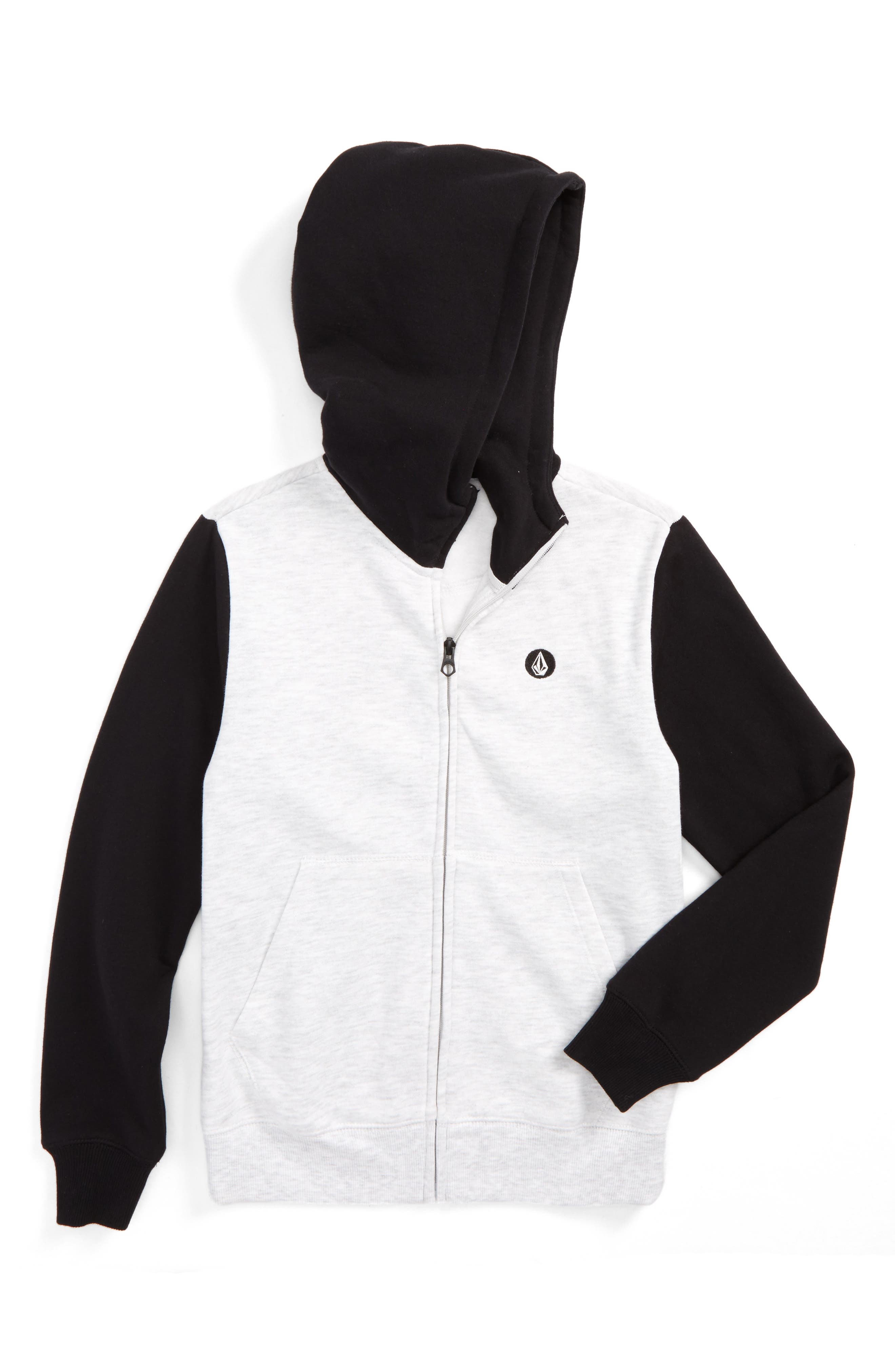 Single Stone Colorblocked Zip Hoodie,                             Main thumbnail 1, color,                             Mist