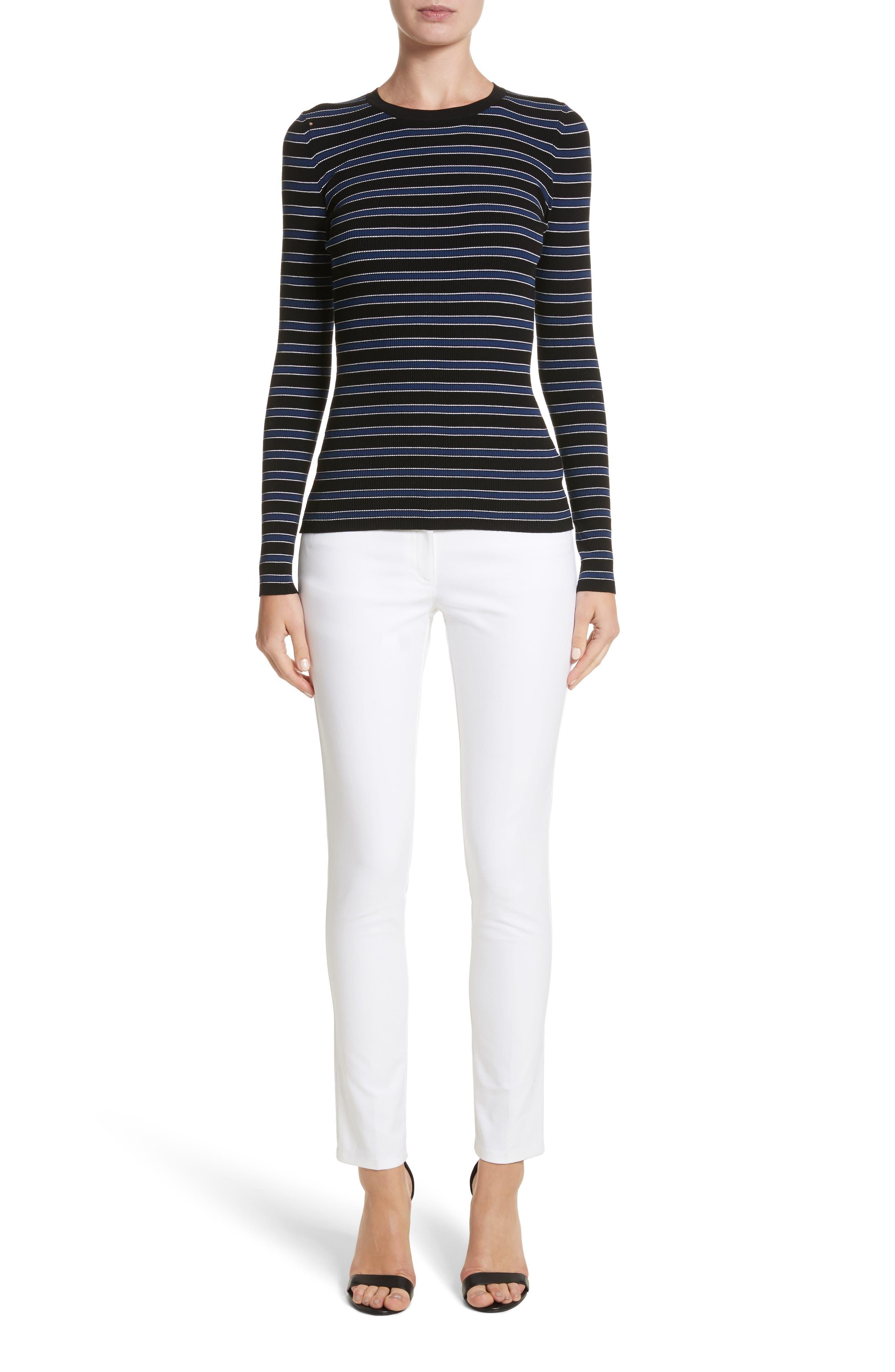 Alternate Image 10  - Michael Kors Samantha Skinny Jeans (Optic White)