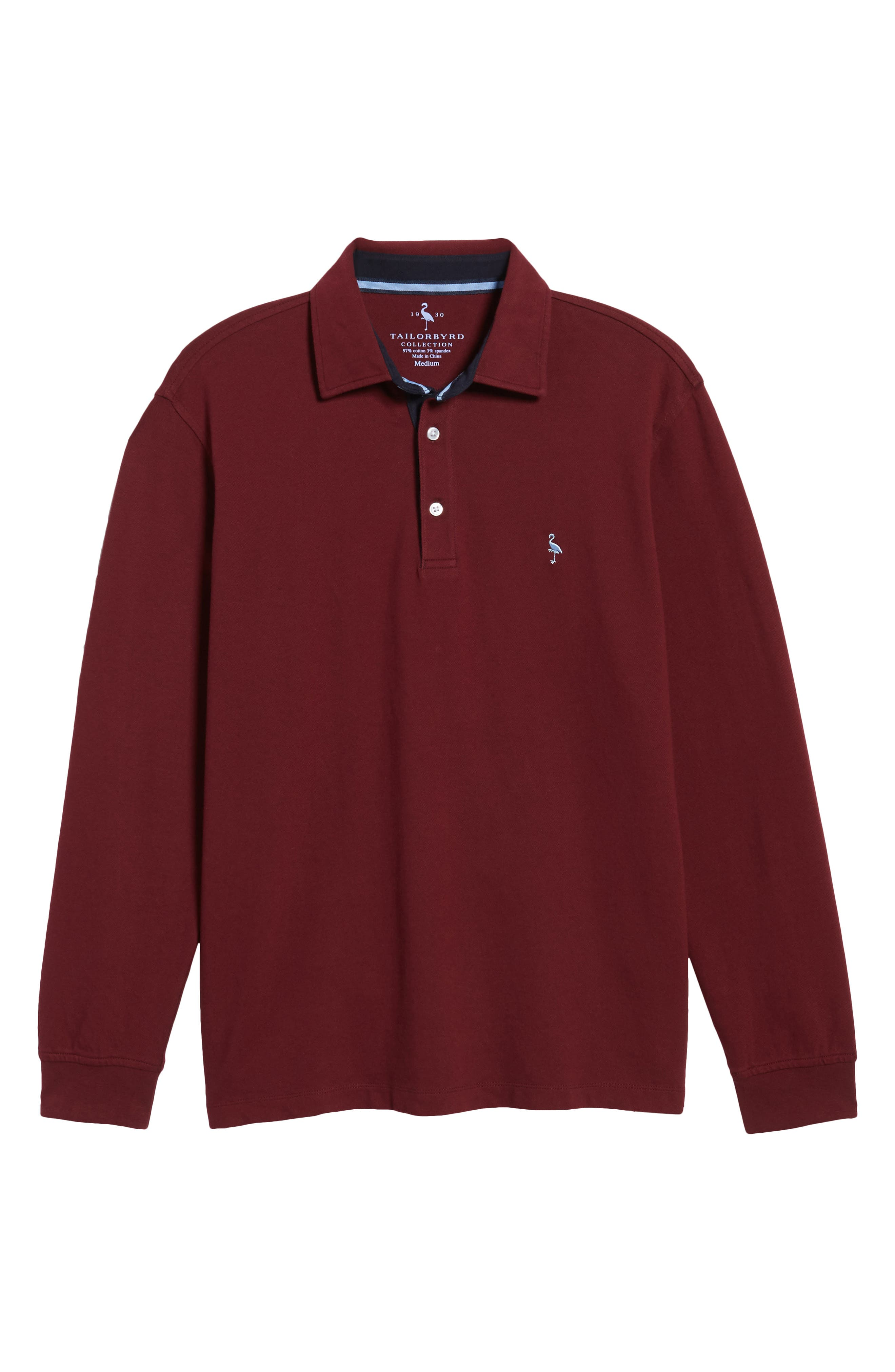 Alternate Image 6  - TailorByrd Two-Tone Piqué Knit Polo