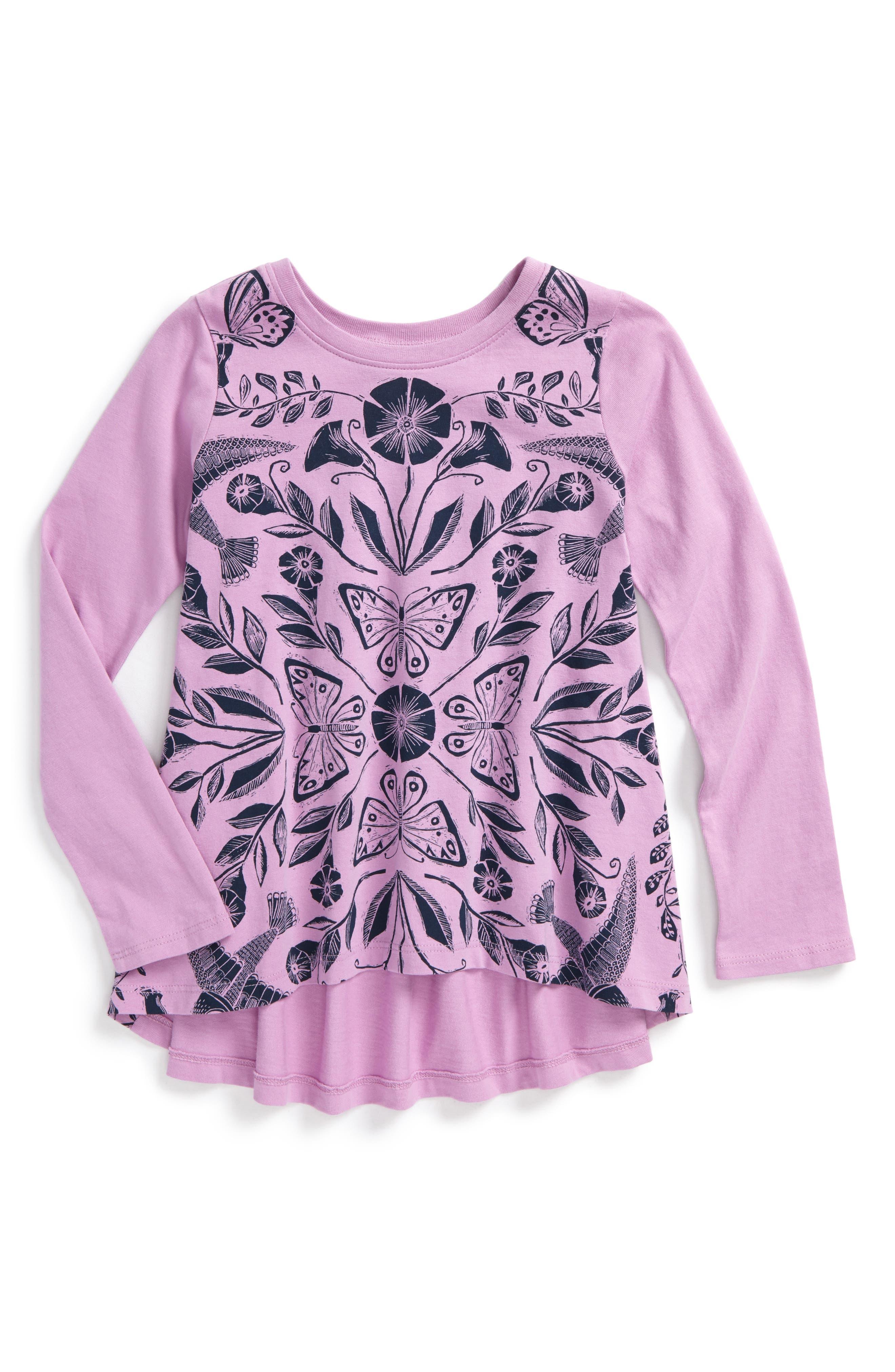 Main Image - Tea Collection Marsh Violet Twirl Top (Toddler Girls, Little Girls & Big Girls)