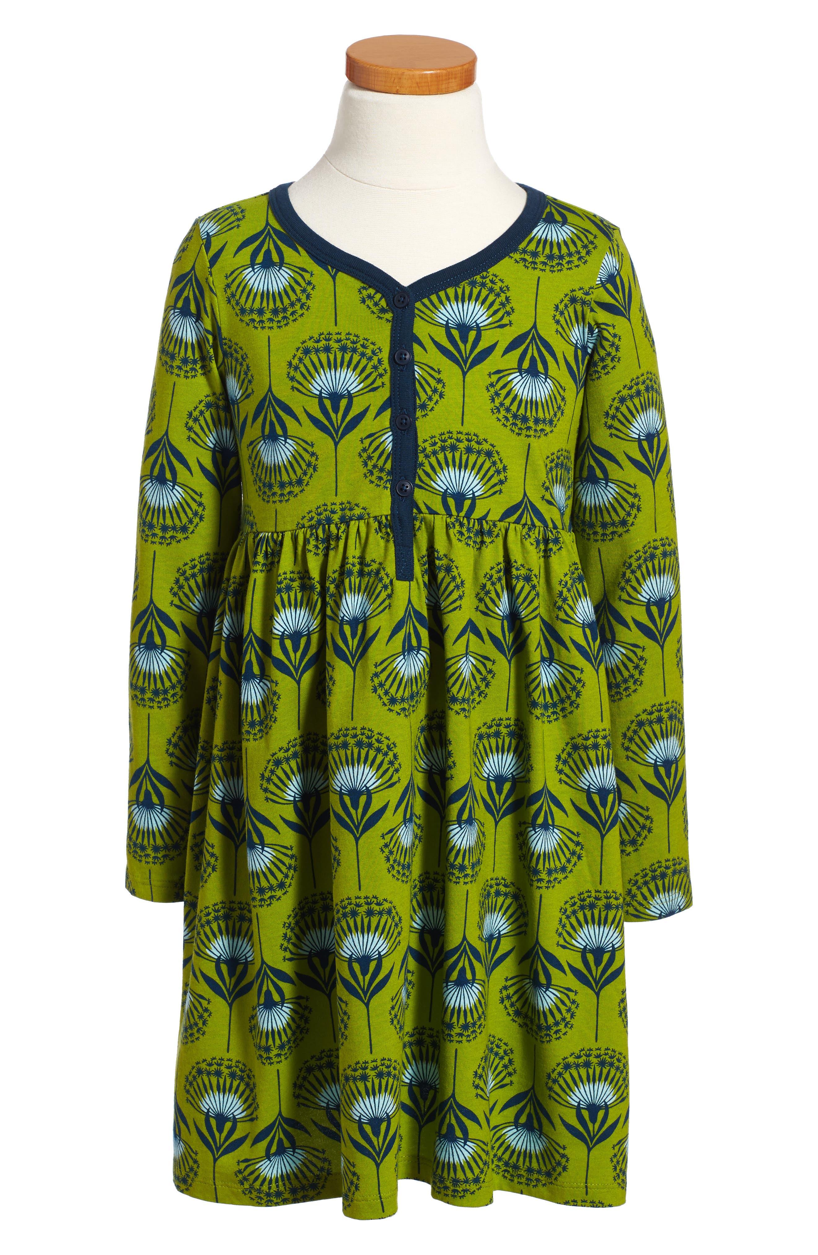 Alternate Image 1 Selected - Tea Collection Dandelion Henley Dress (Toddler Girls, Little Girls & Big Girls)
