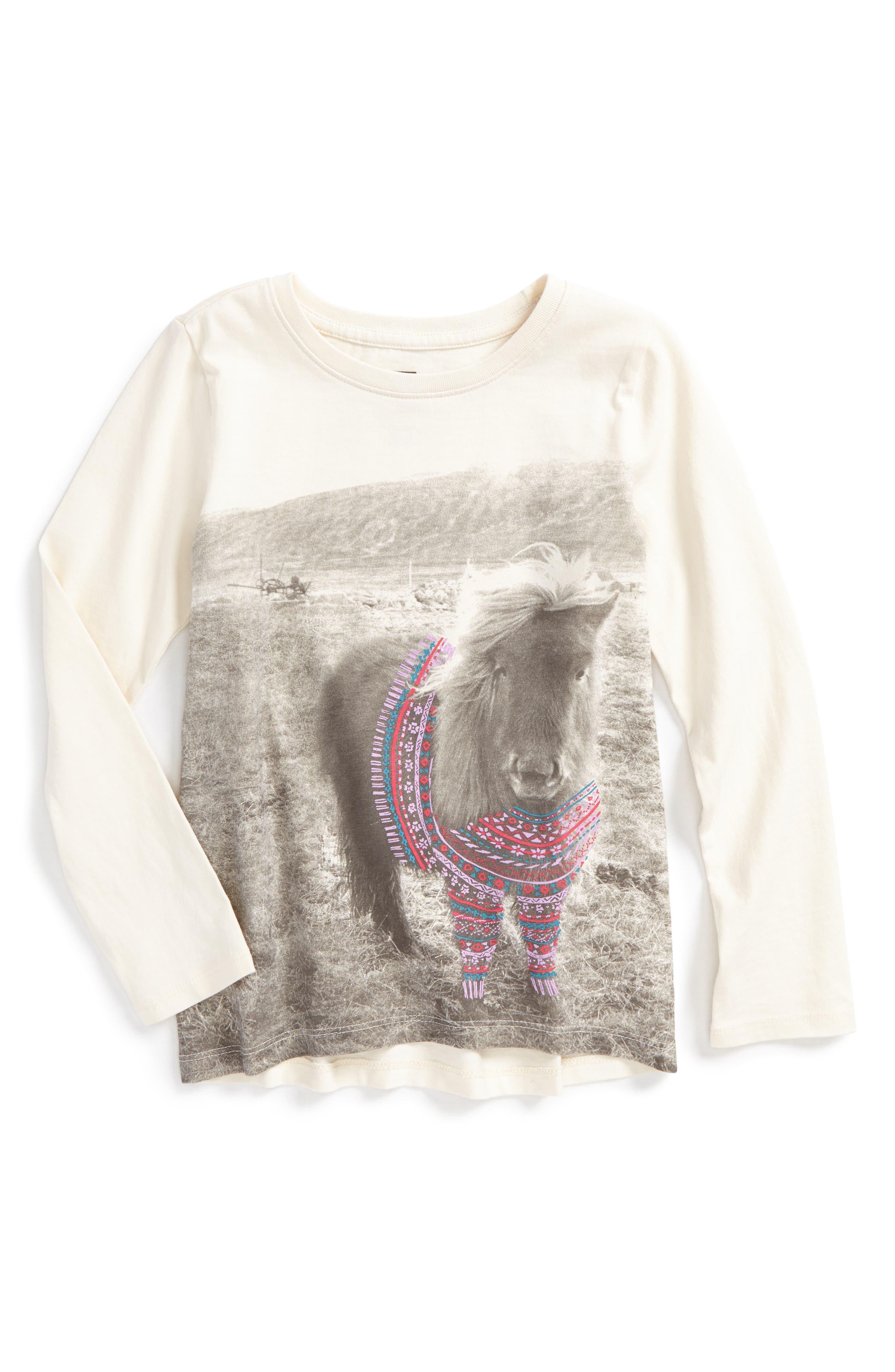Alternate Image 1 Selected - Tea Collection Shetland Sweater Tee (Toddler Girls, Little Girls & Big Girls)