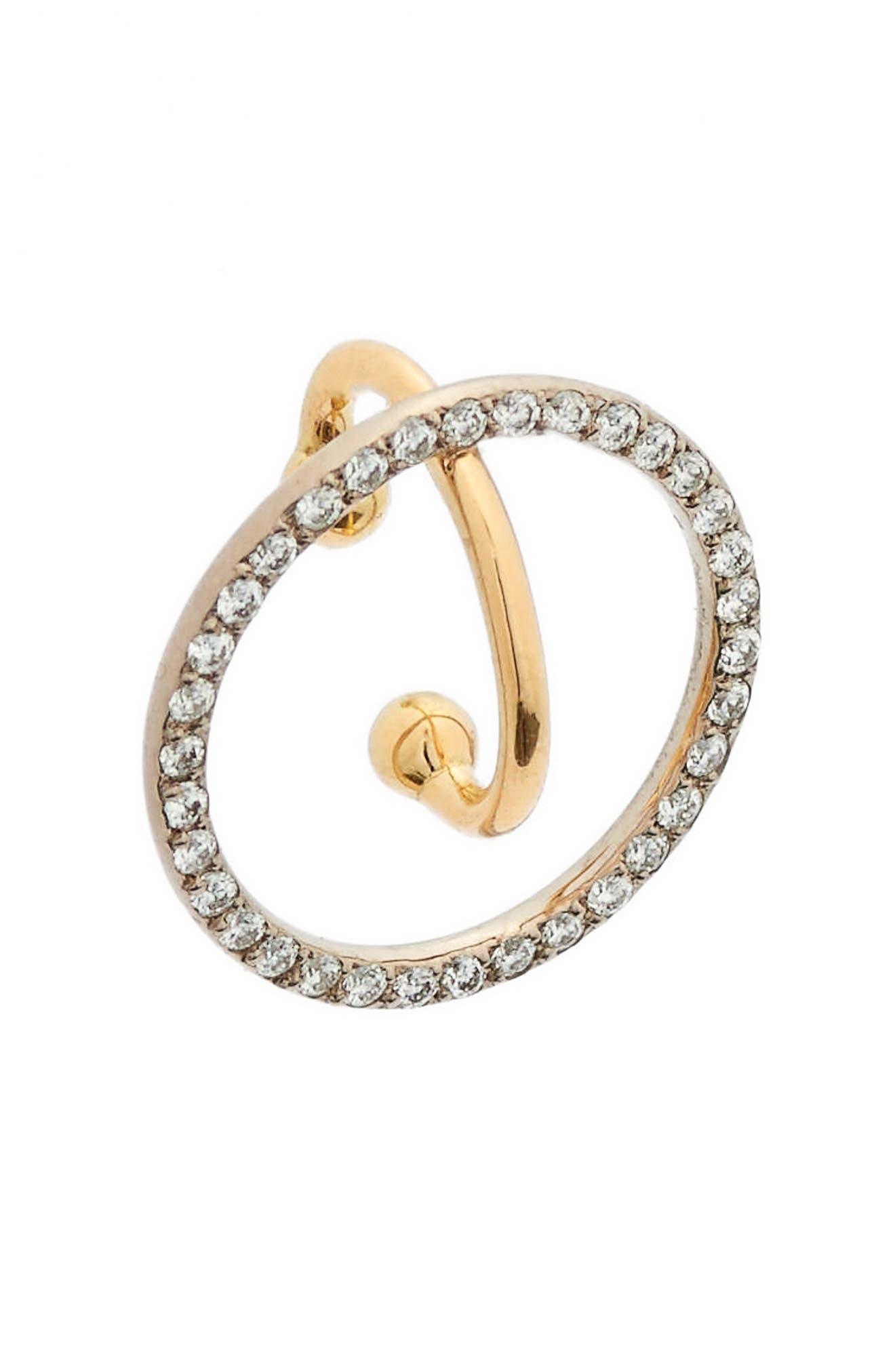 Celeste Diamond Earring,                             Main thumbnail 1, color,                             Yellow White Gold Diamonds
