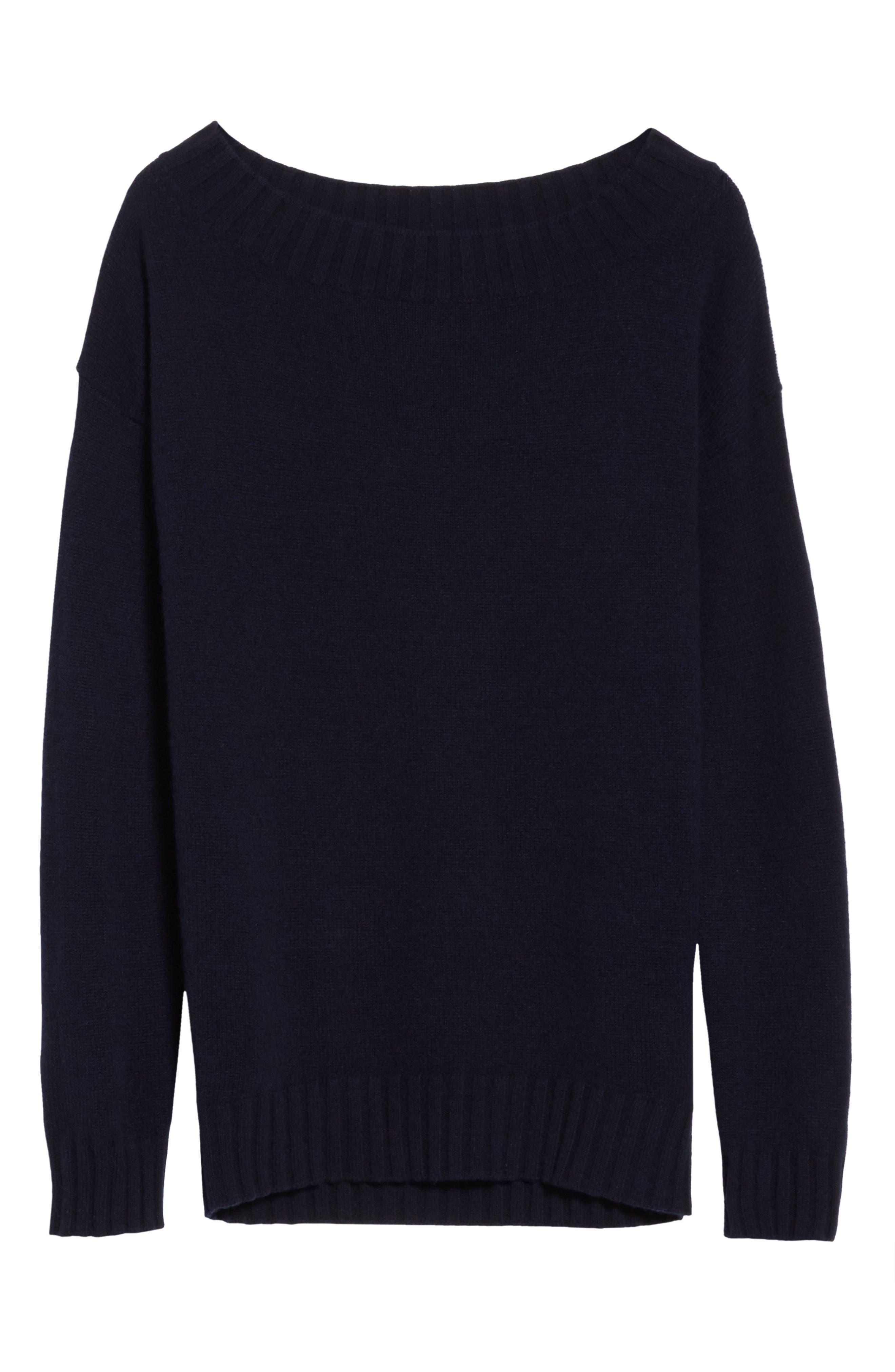Alternate Image 6  - Vince Off the Shoulder Wool & Cashmere Sweater