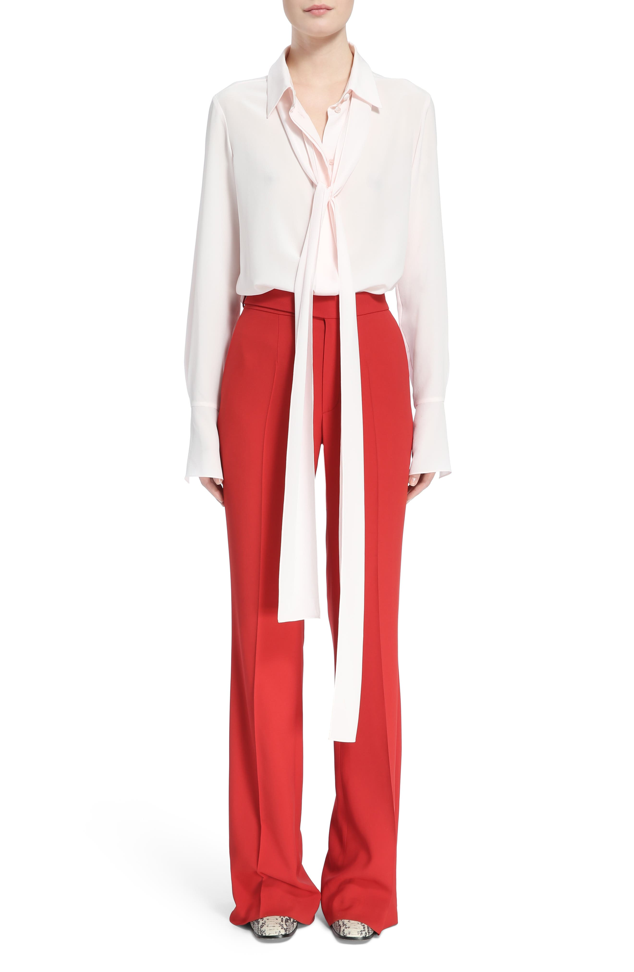 Cady Flare Suiting Pants,                             Alternate thumbnail 7, color,                             Ginger Red