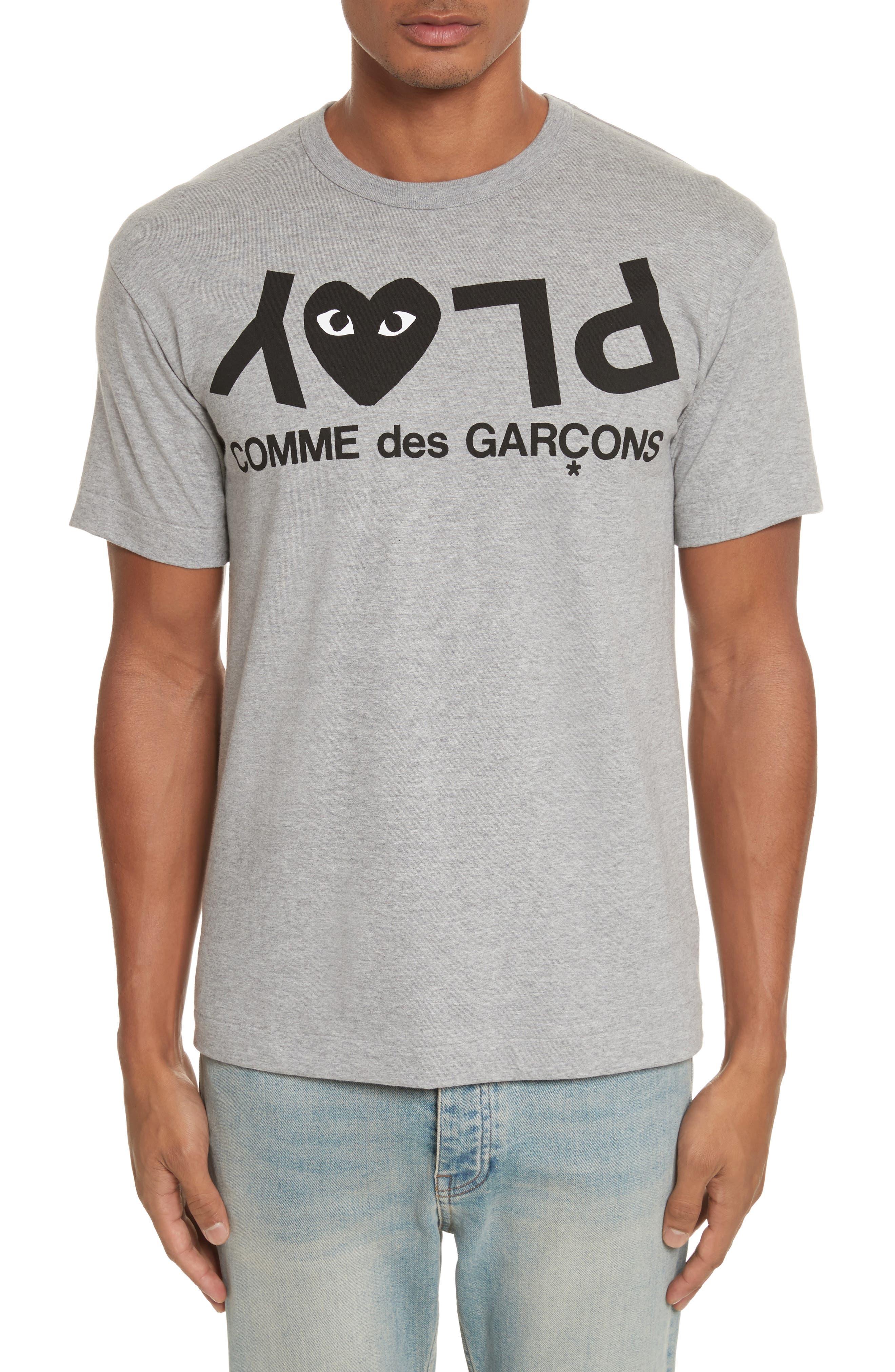 PLAY Upside Down Graphic T-Shirt,                             Main thumbnail 1, color,                             Grey