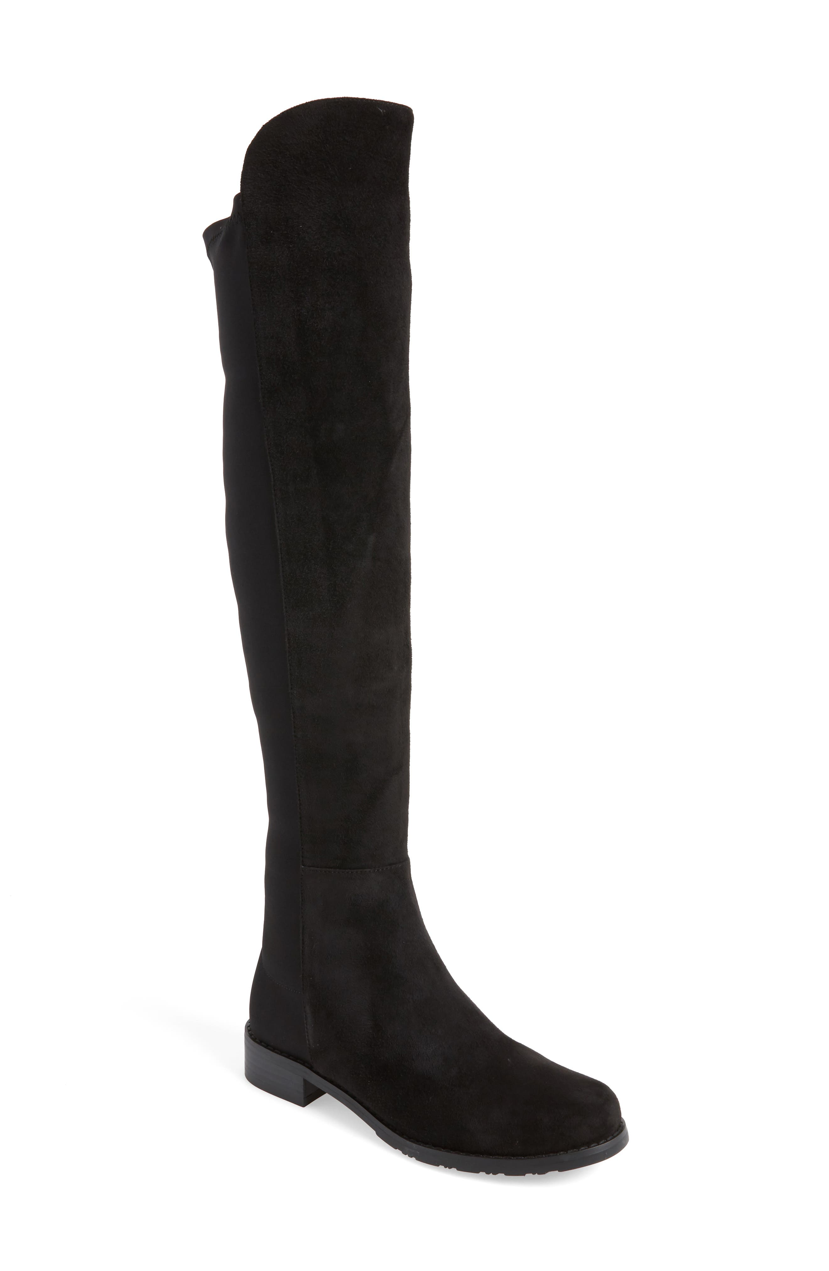 Panache Tall Boot,                         Main,                         color, Black Suede