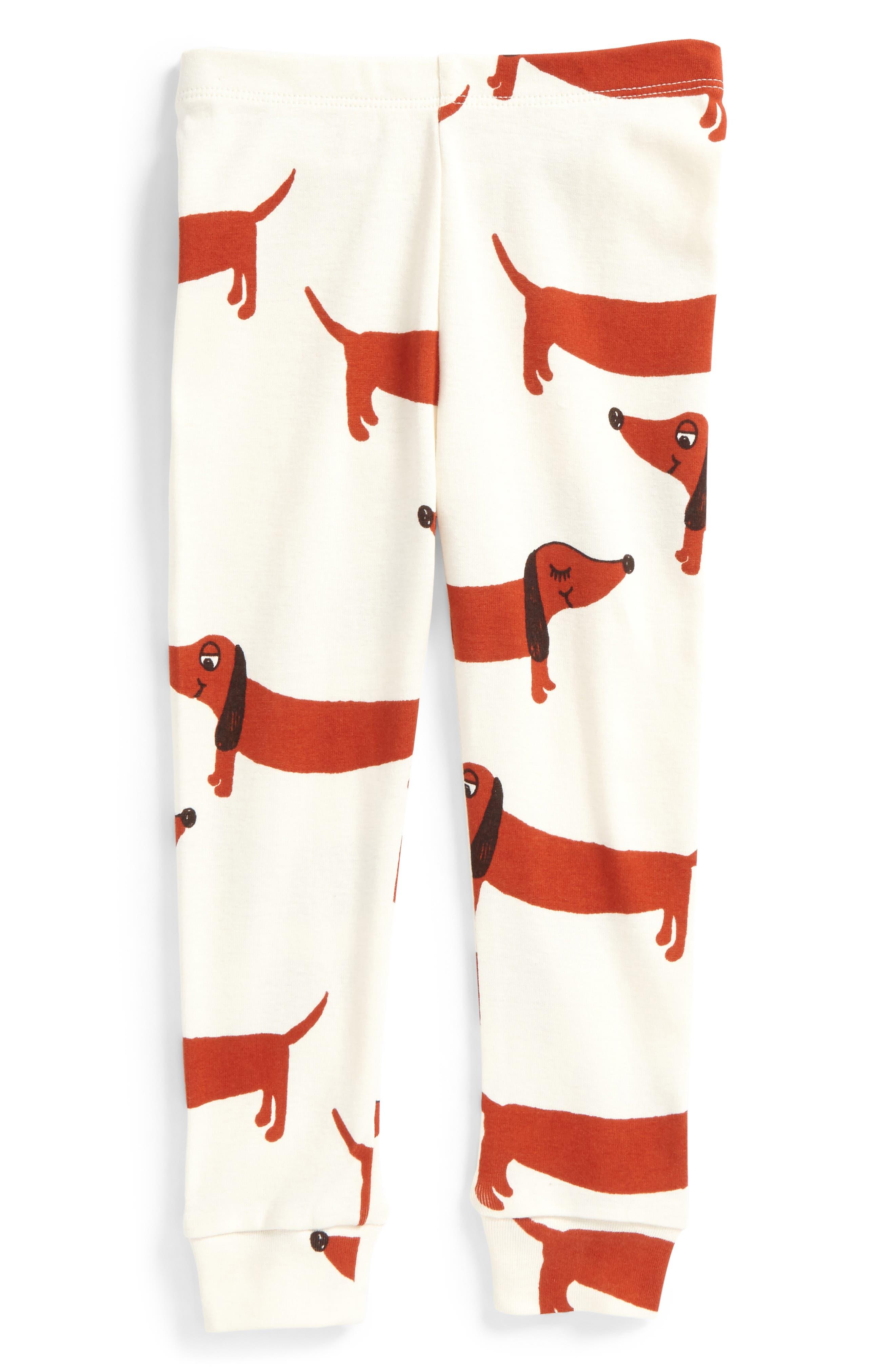 Dog Leggings,                         Main,                         color, Off White