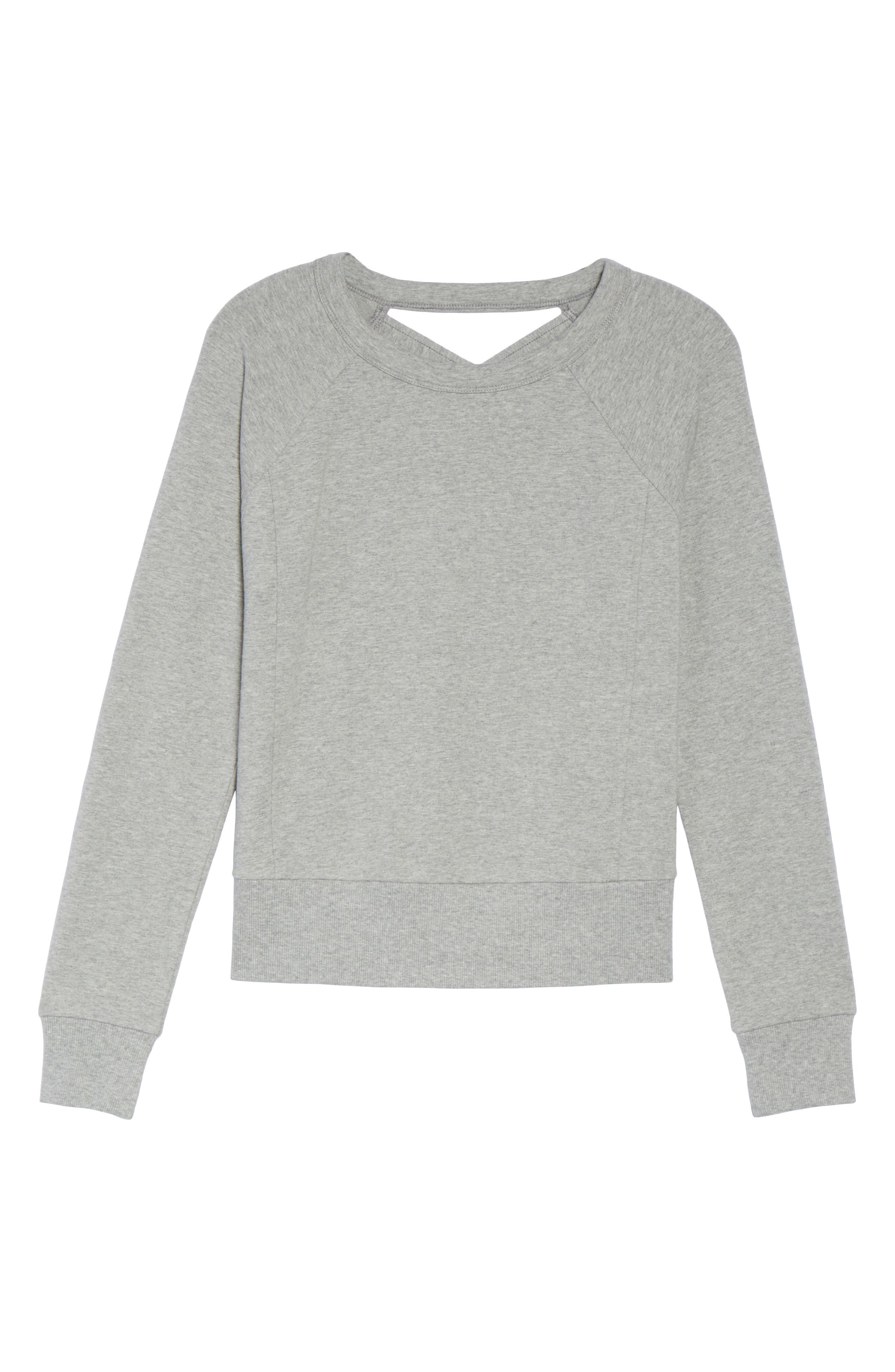 Alternate Image 6  - Zella Covet Crisscross Sweatshirt