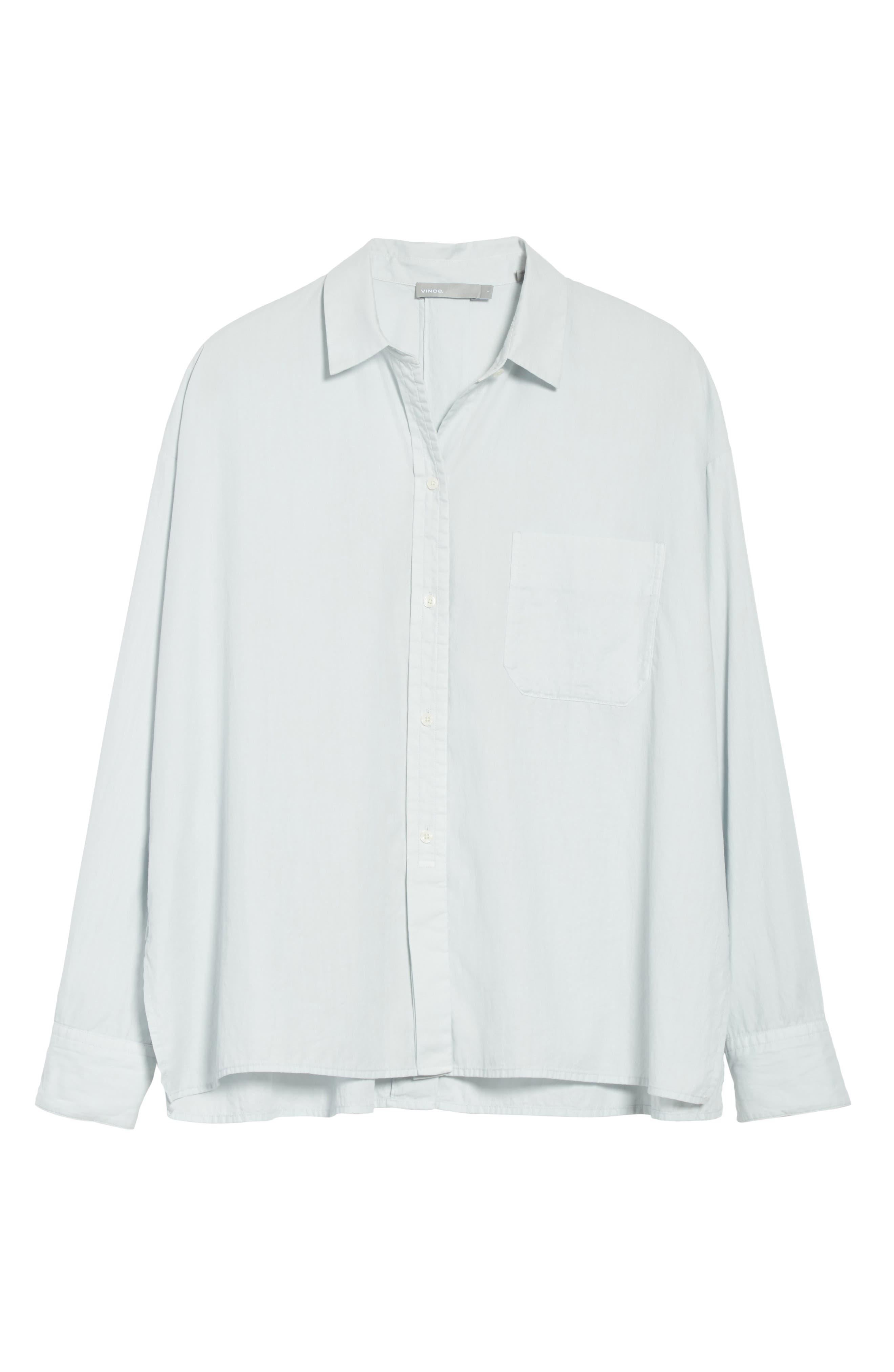 Alternate Image 6  - Vince Single Pocket Cotton & Silk Shirt
