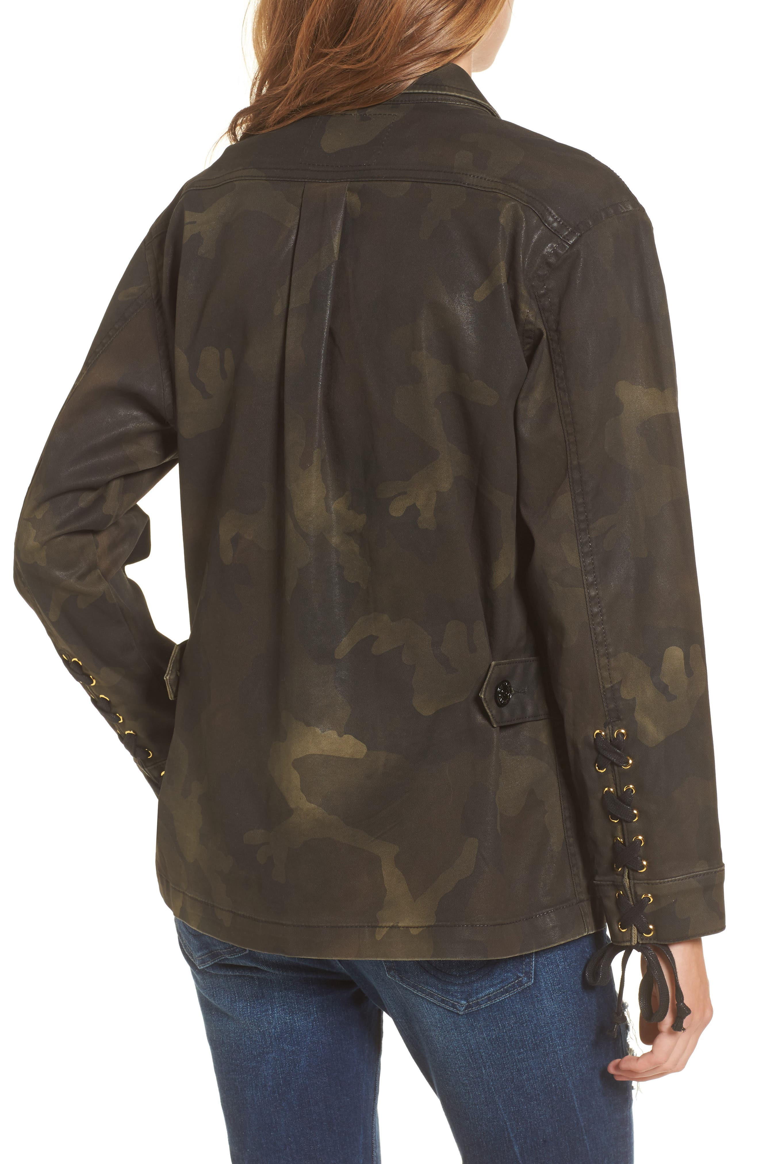 Coated Military Jacket,                             Alternate thumbnail 2, color,                             Rough Turf