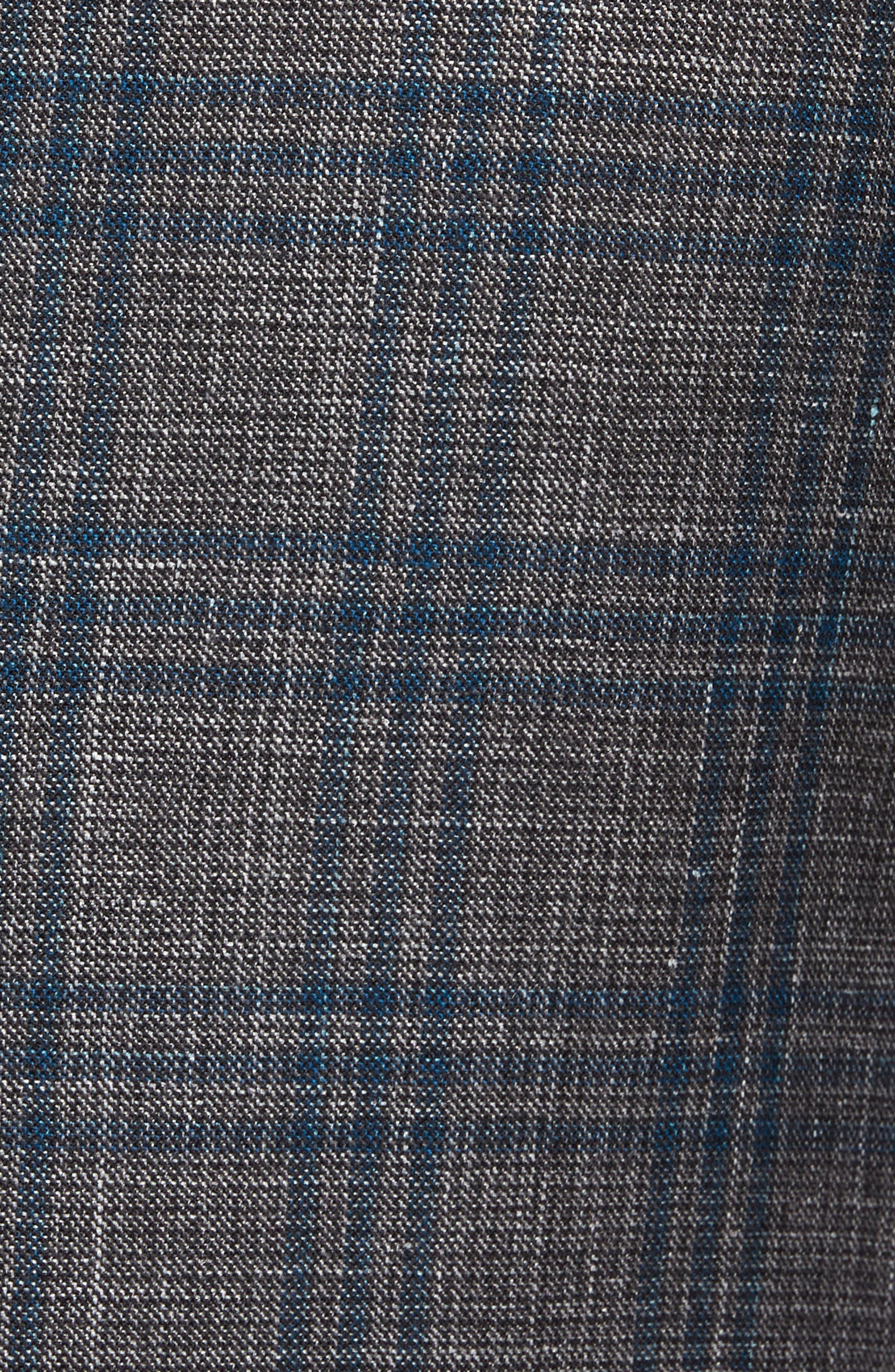 Alternate Image 5  - Pal Zileri Classic Fit Plaid Wool Sport Coat