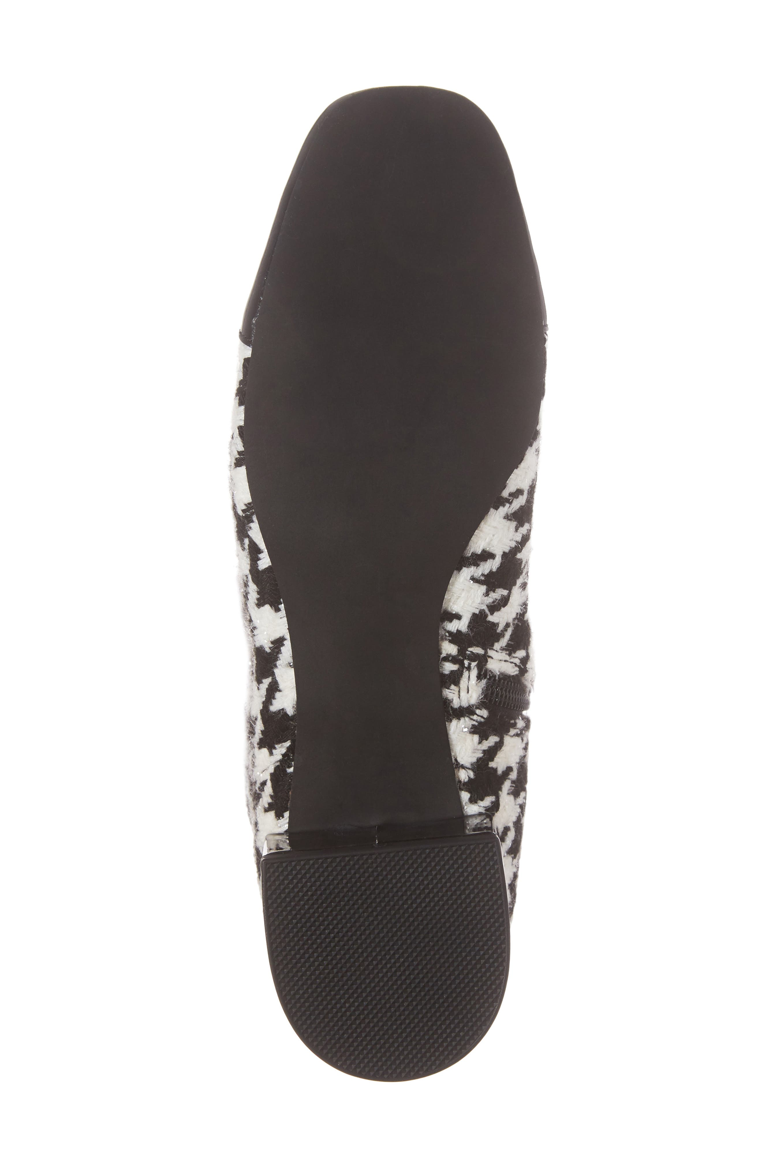 Covey Knee-High Boot,                             Alternate thumbnail 6, color,                             Black White Houndstooth
