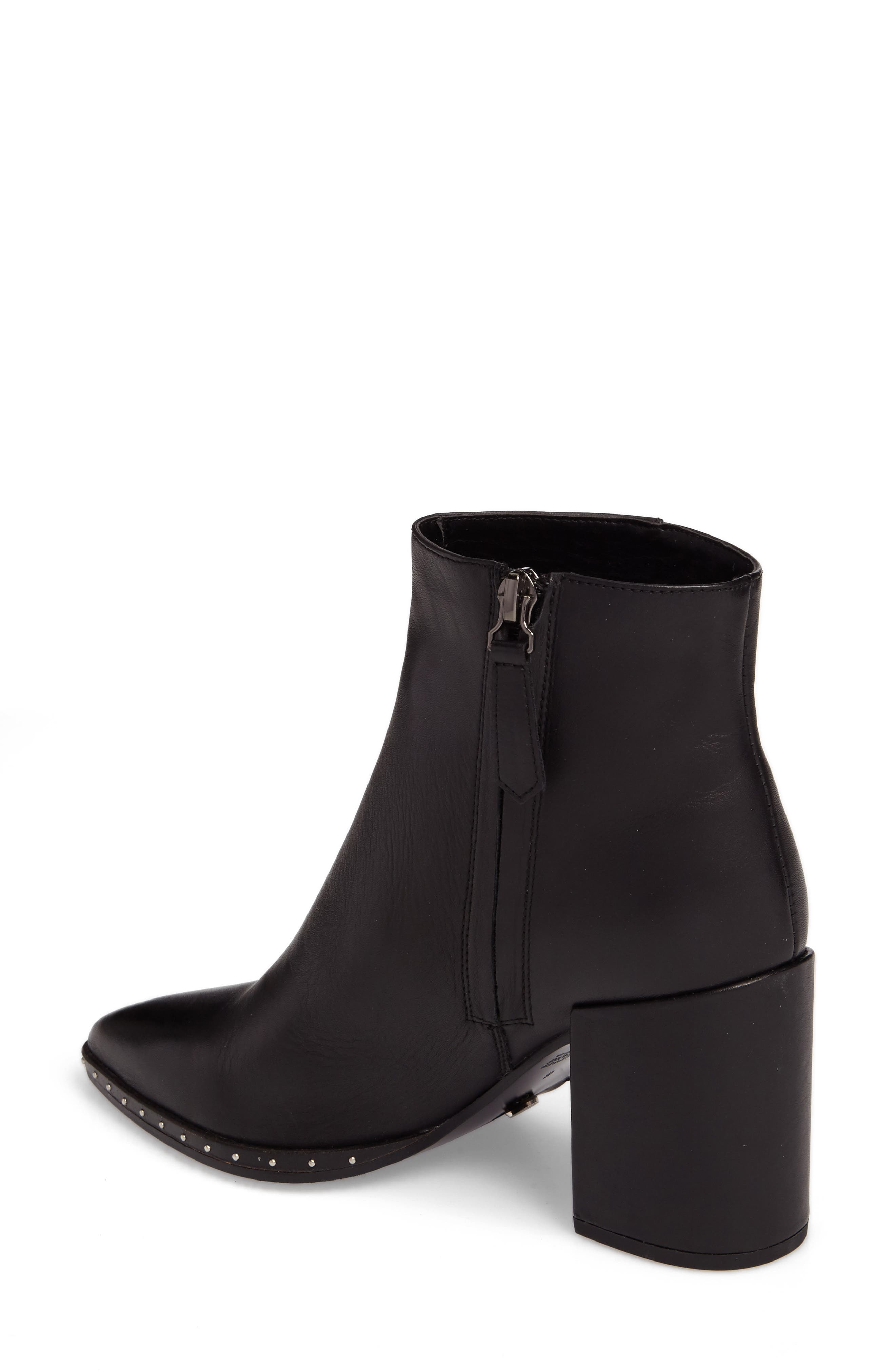 Bailey Pointy Toe Bootie,                             Alternate thumbnail 2, color,                             Black Albany Leather