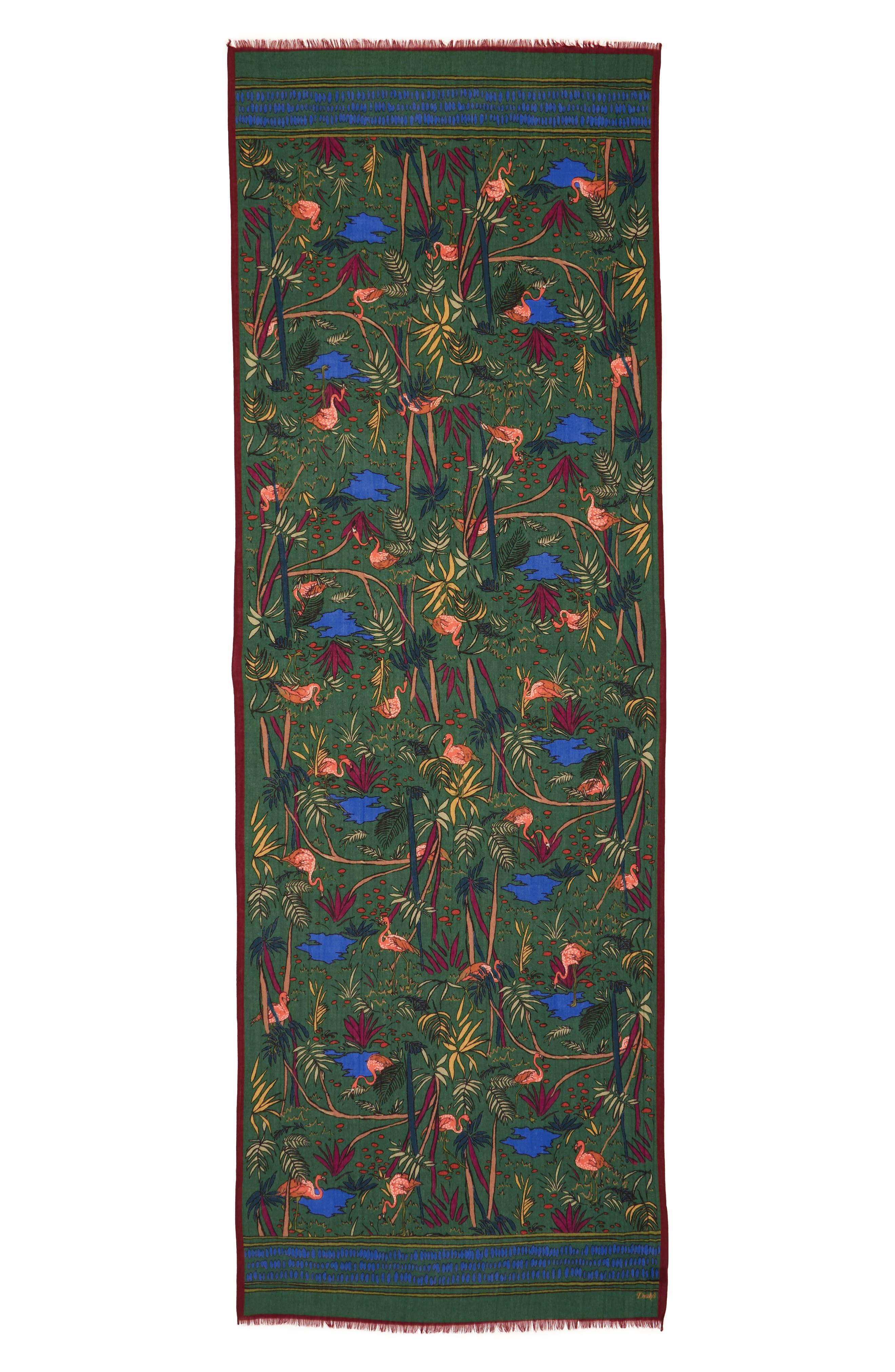 Alternate Image 2  - Drakes Jungle Print Wool Scarf