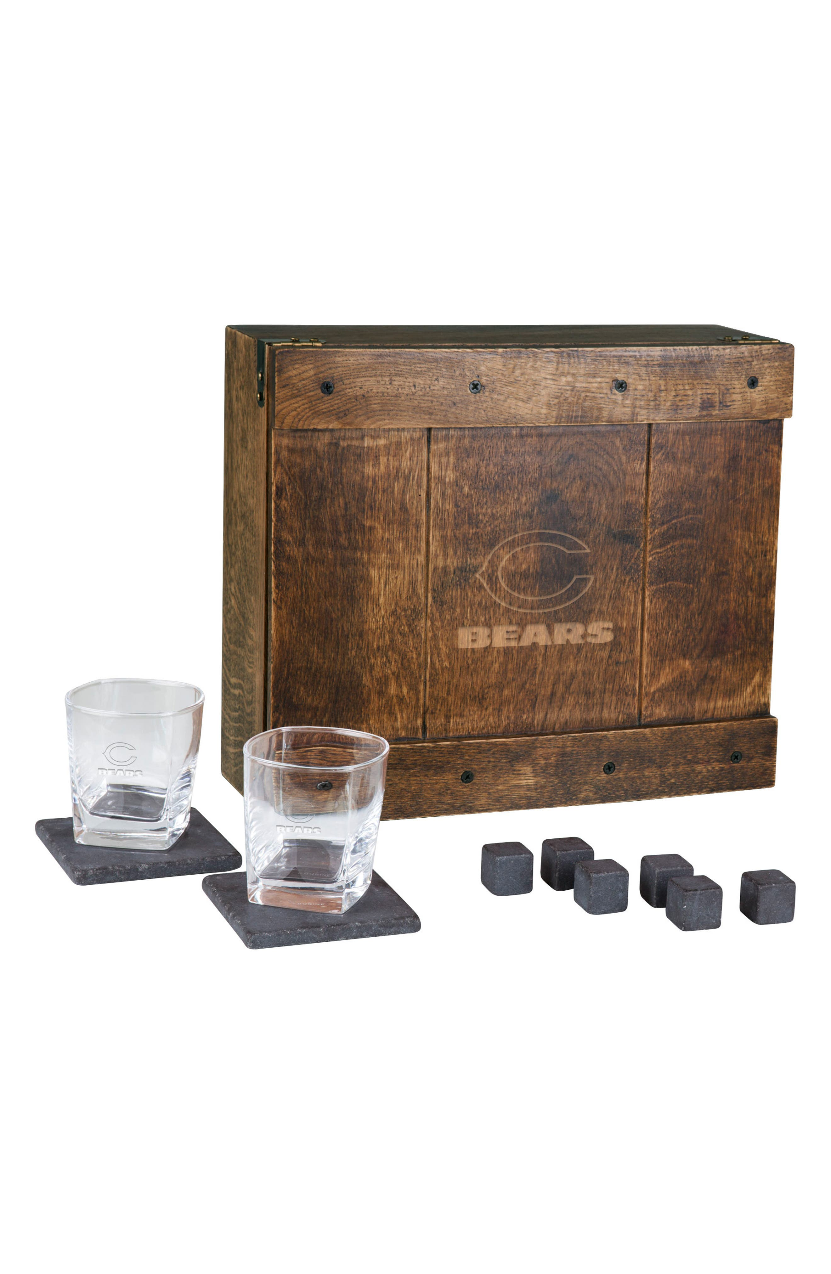 Picnic Time NFL Team Logo 11-Piece Whiskey Box Gift Set
