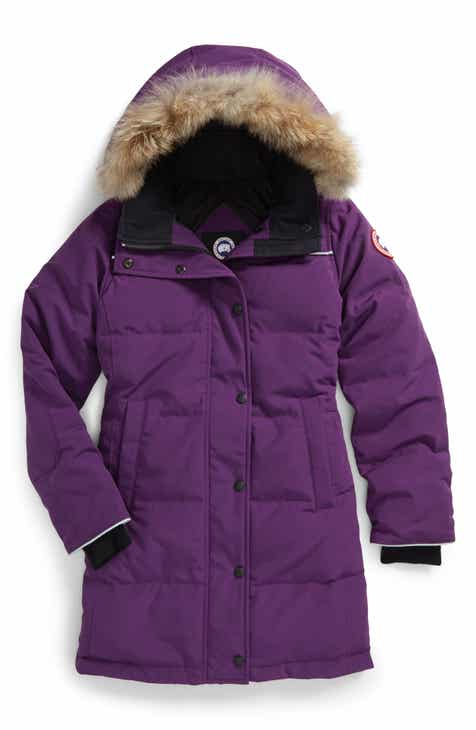 49e3e4c81 Canada Goose Juniper Down Parka with Genuine Coyote Fur Trim (Little Girls  & Big Girls)