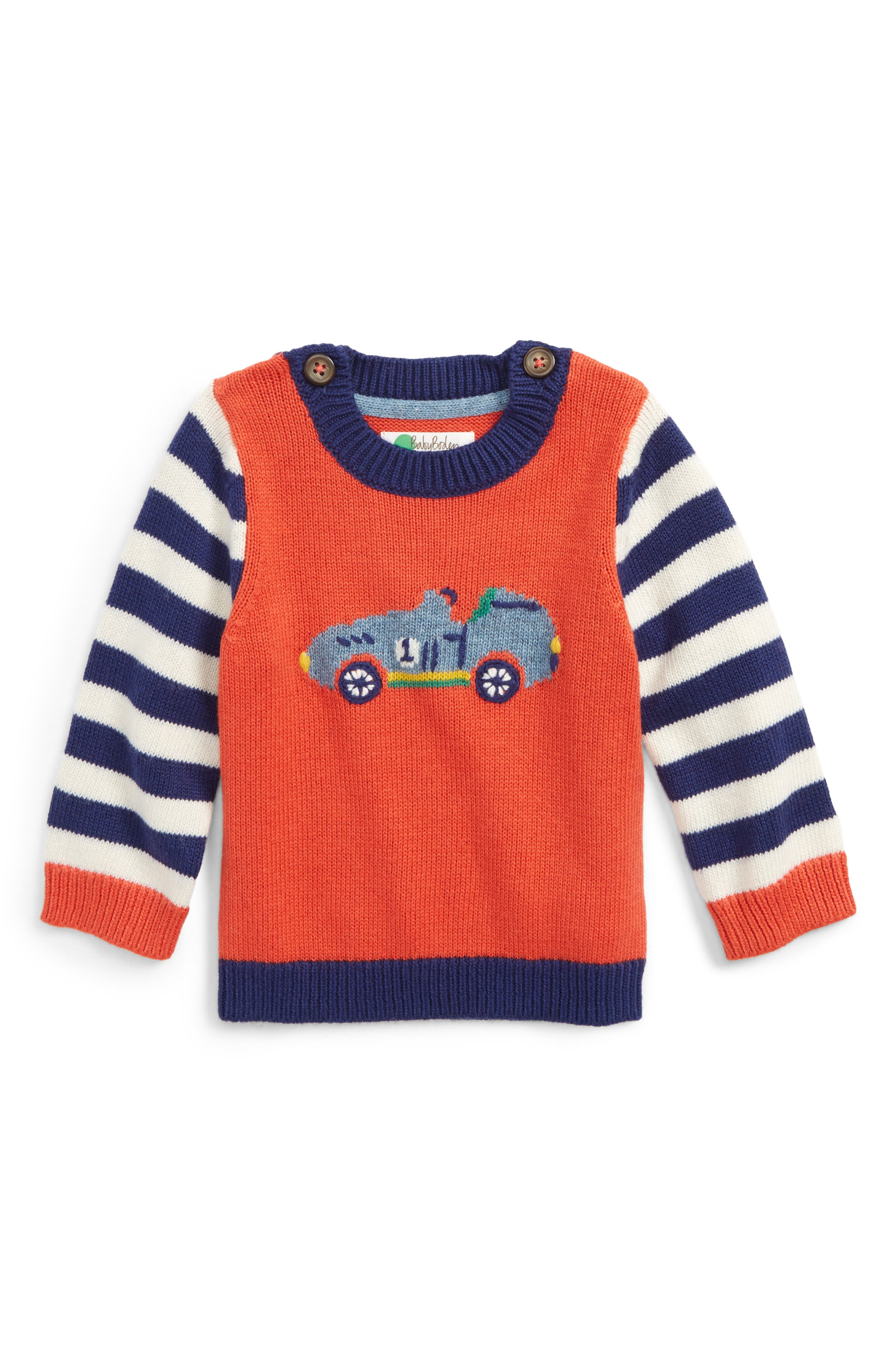Mini Boden Fun Knit Sweater (Baby Boys & Toddler Boys)