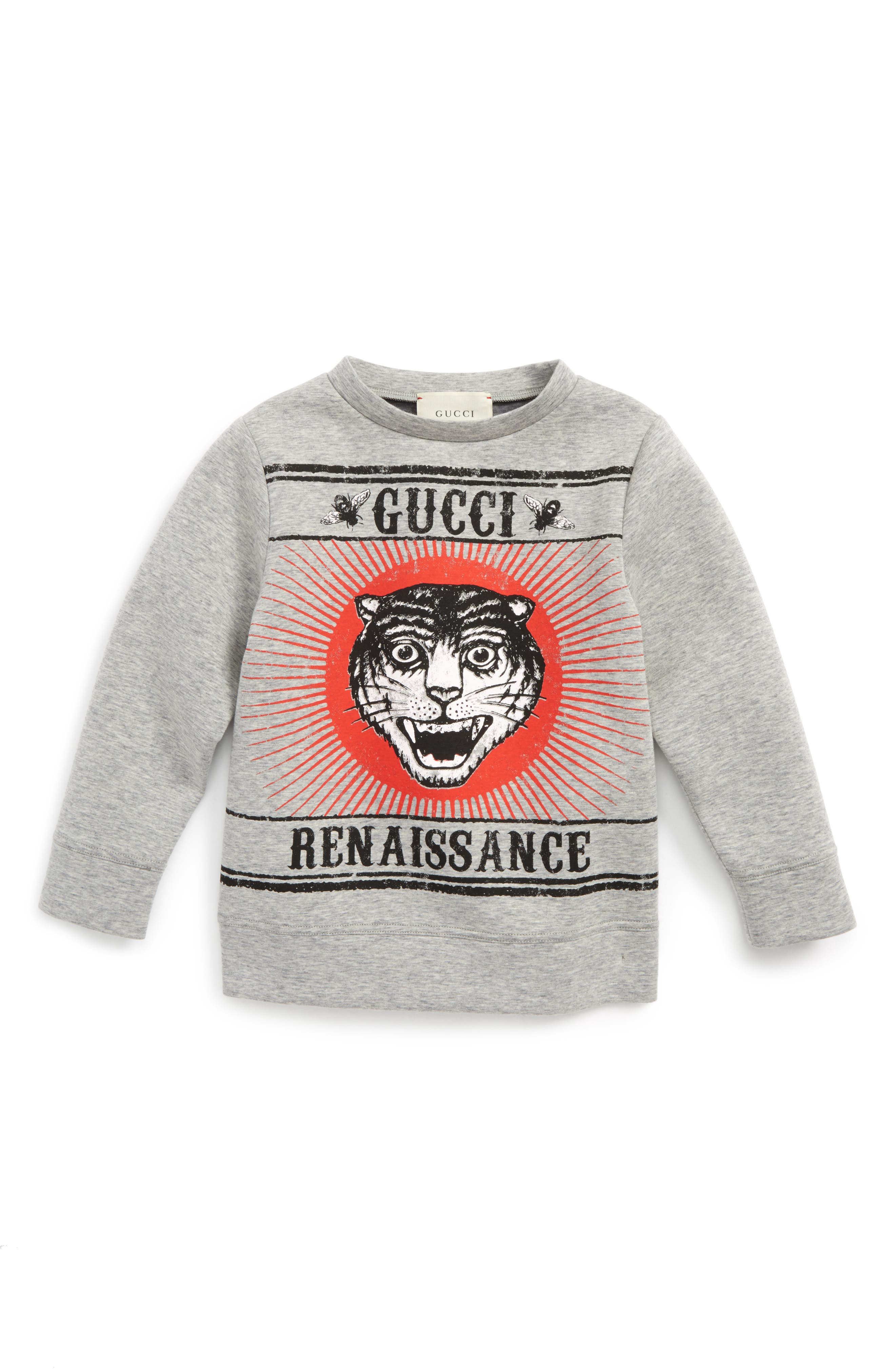 Alternate Image 1 Selected - Gucci Tiger Graphic Sweatshirt (Little Boys & Big Boys)