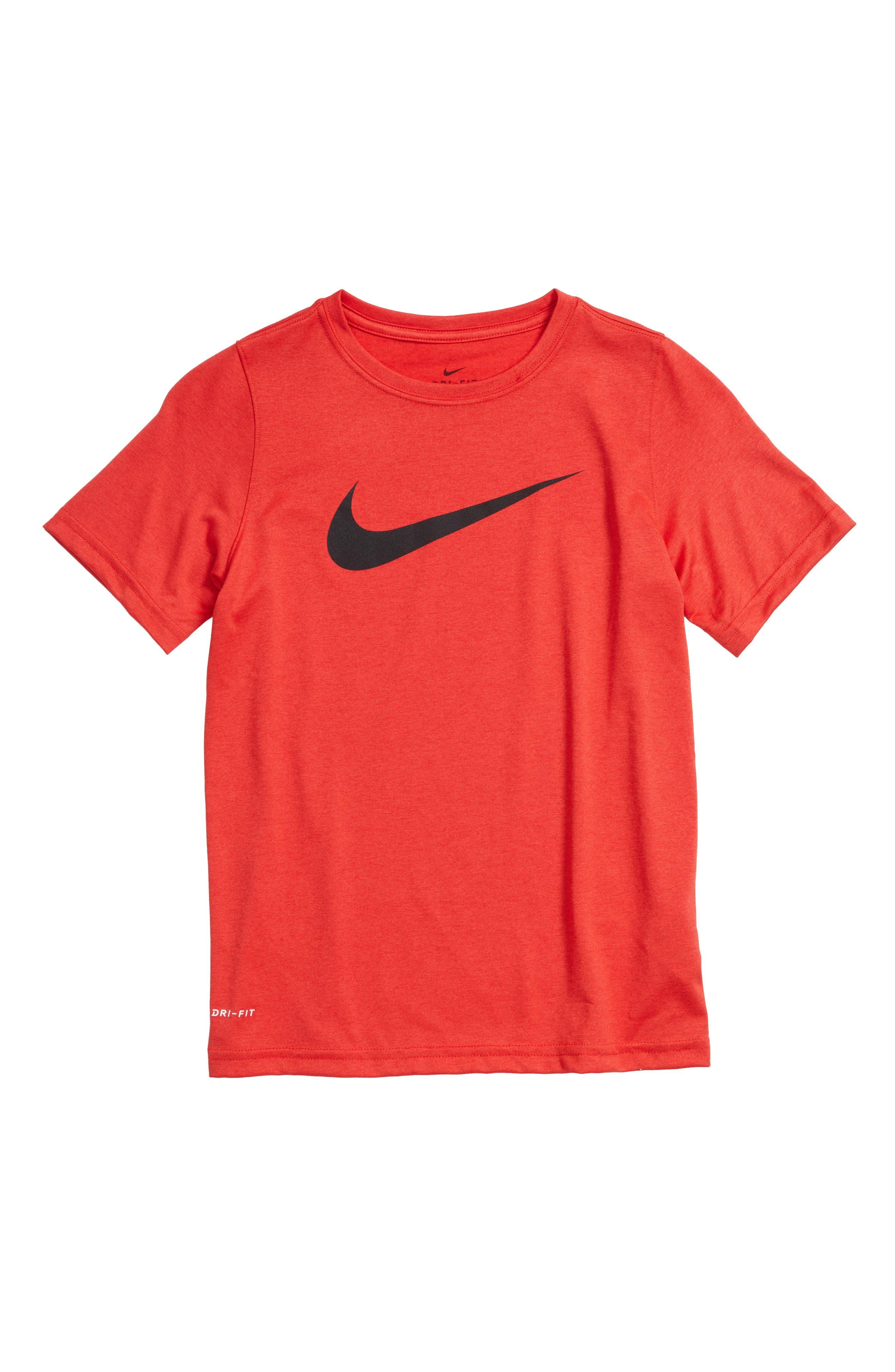 Dry Swoosh T-Shirt,                             Main thumbnail 1, color,                             University Red/ Black
