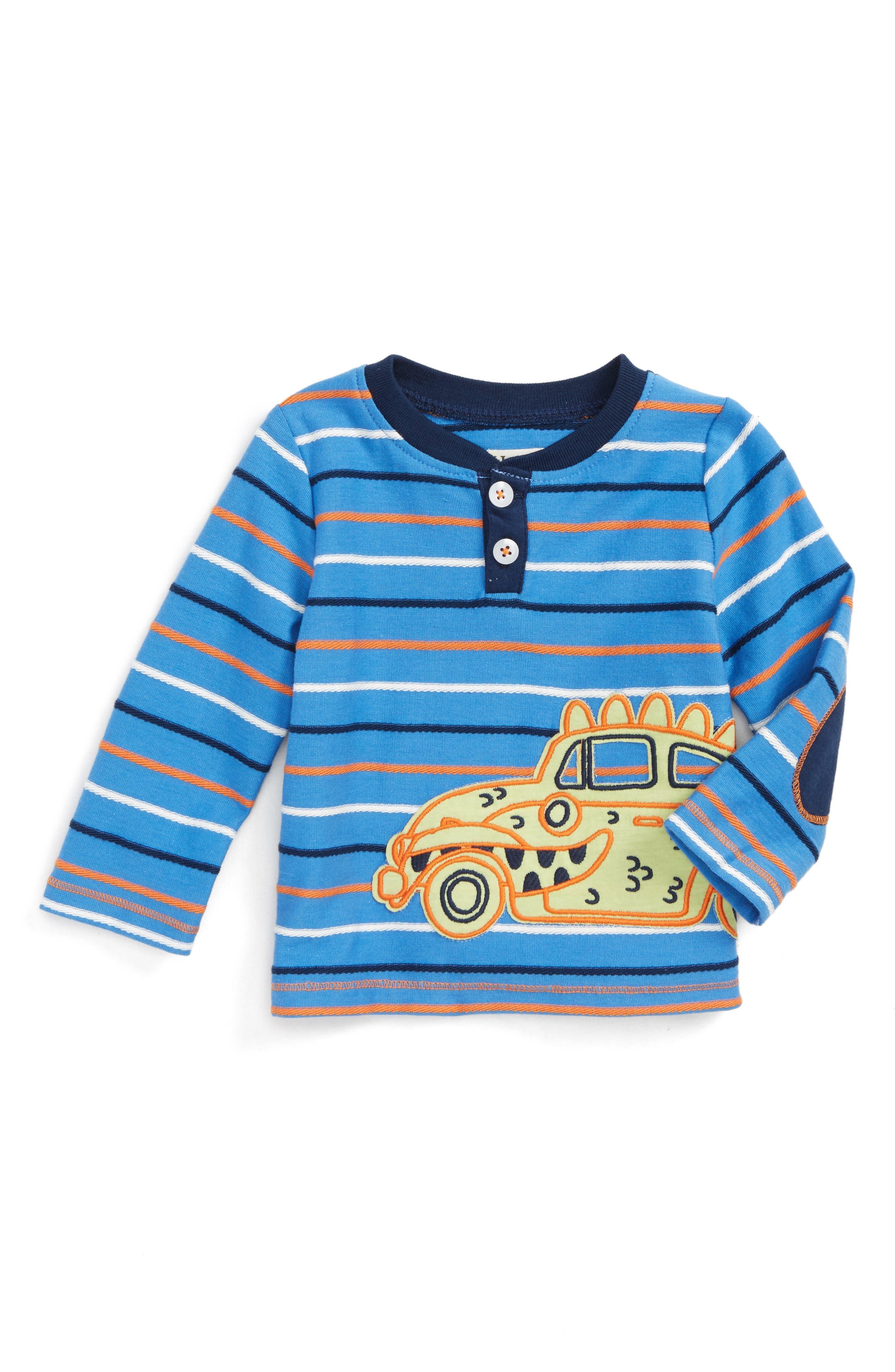 Main Image - Hatley Appliqué Henley T-Shirt (Baby Boys)