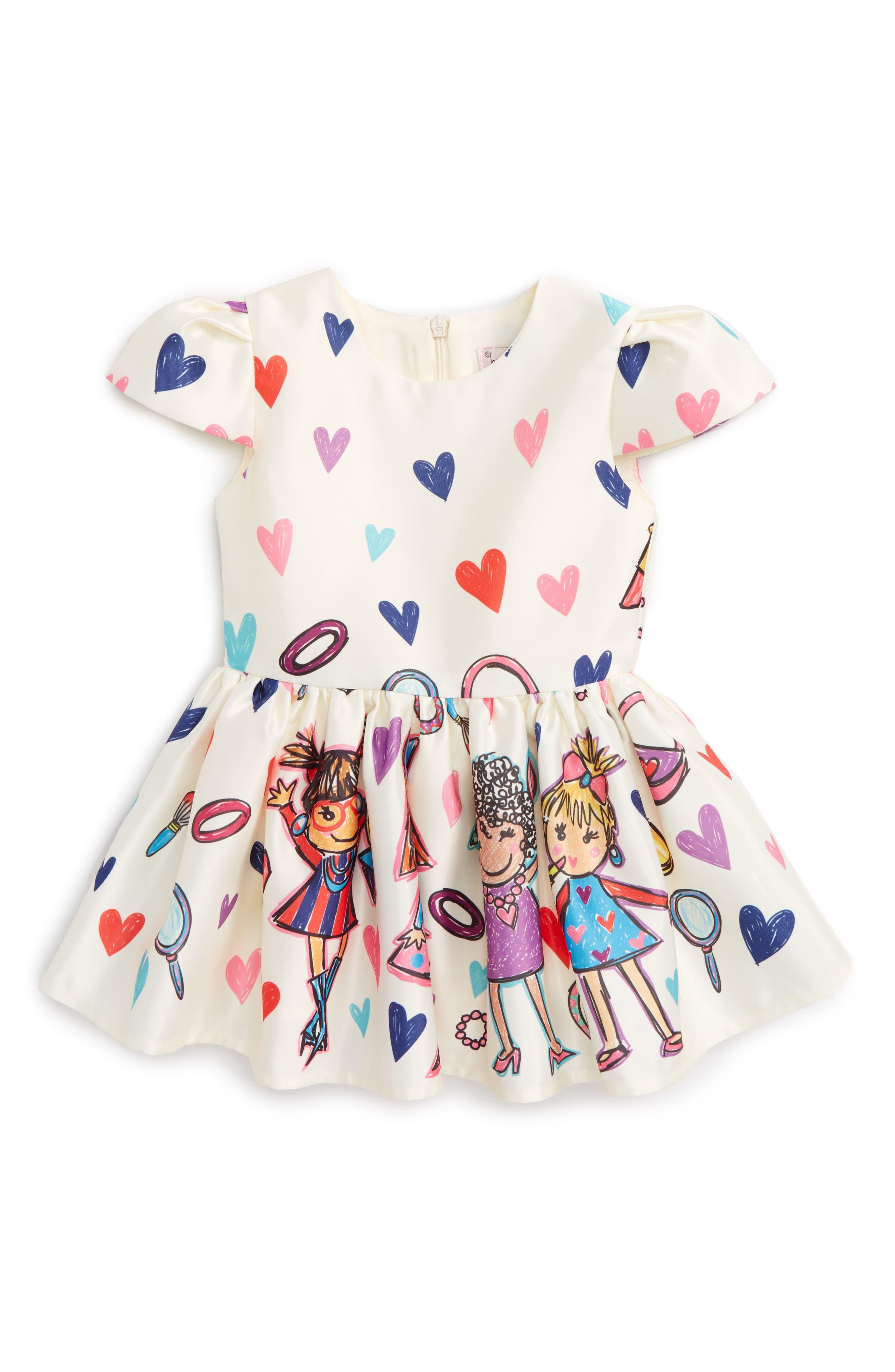 Fashion Print Dress,                             Main thumbnail 1, color,                             Multi