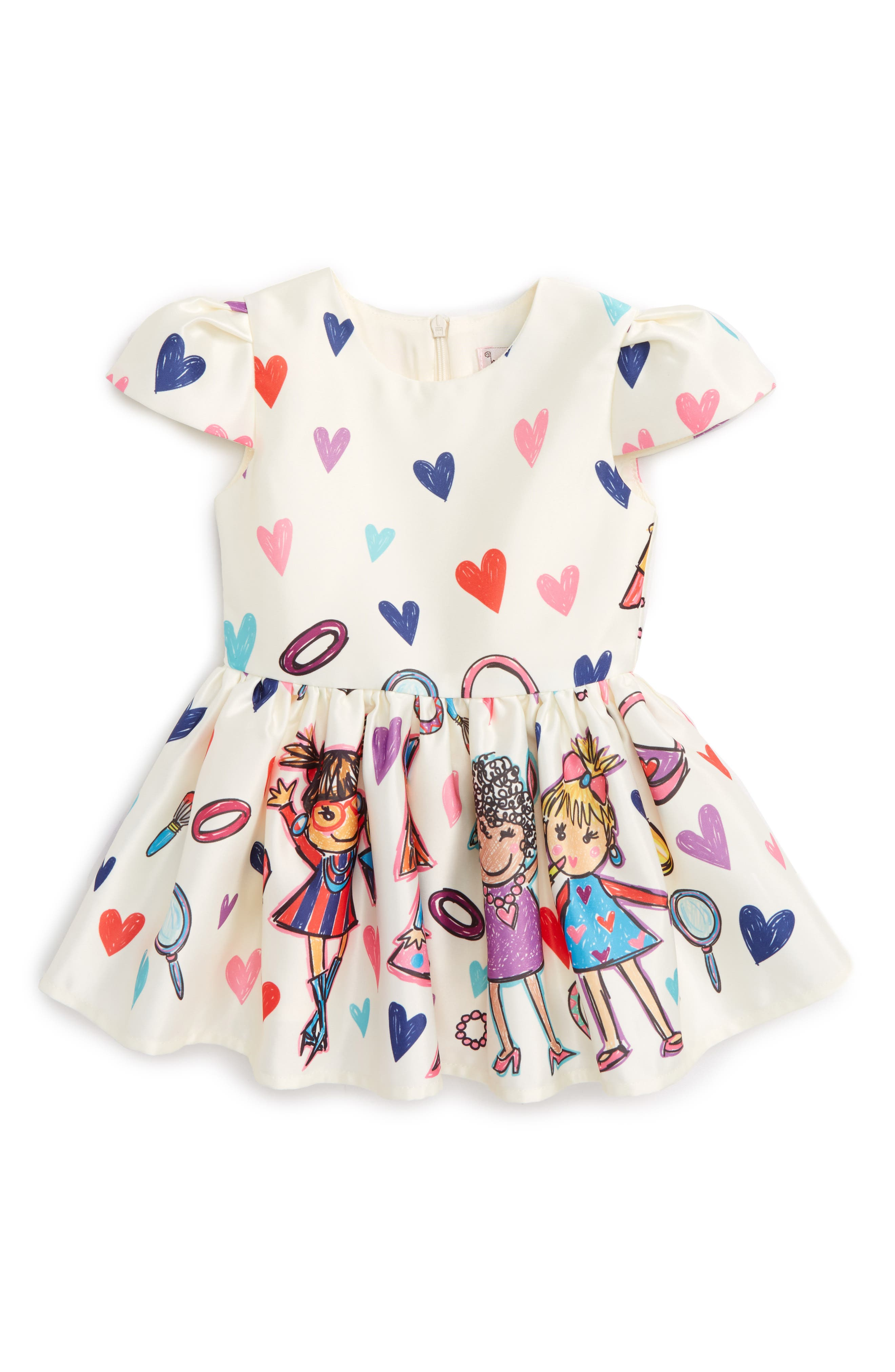 Fashion Print Dress,                         Main,                         color, Multi