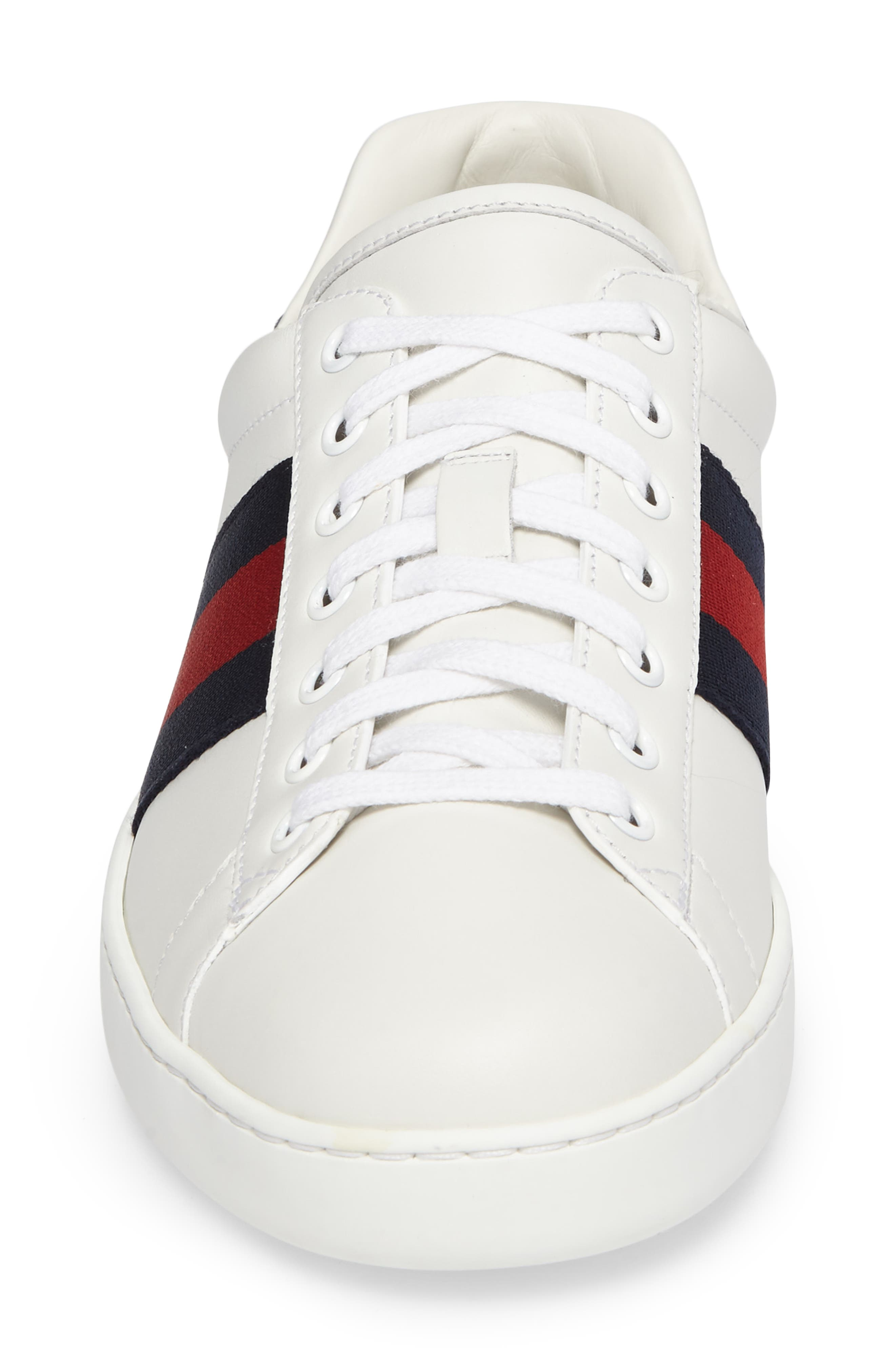 New Ace Clean Sneaker,                             Alternate thumbnail 4, color,                             Bianco