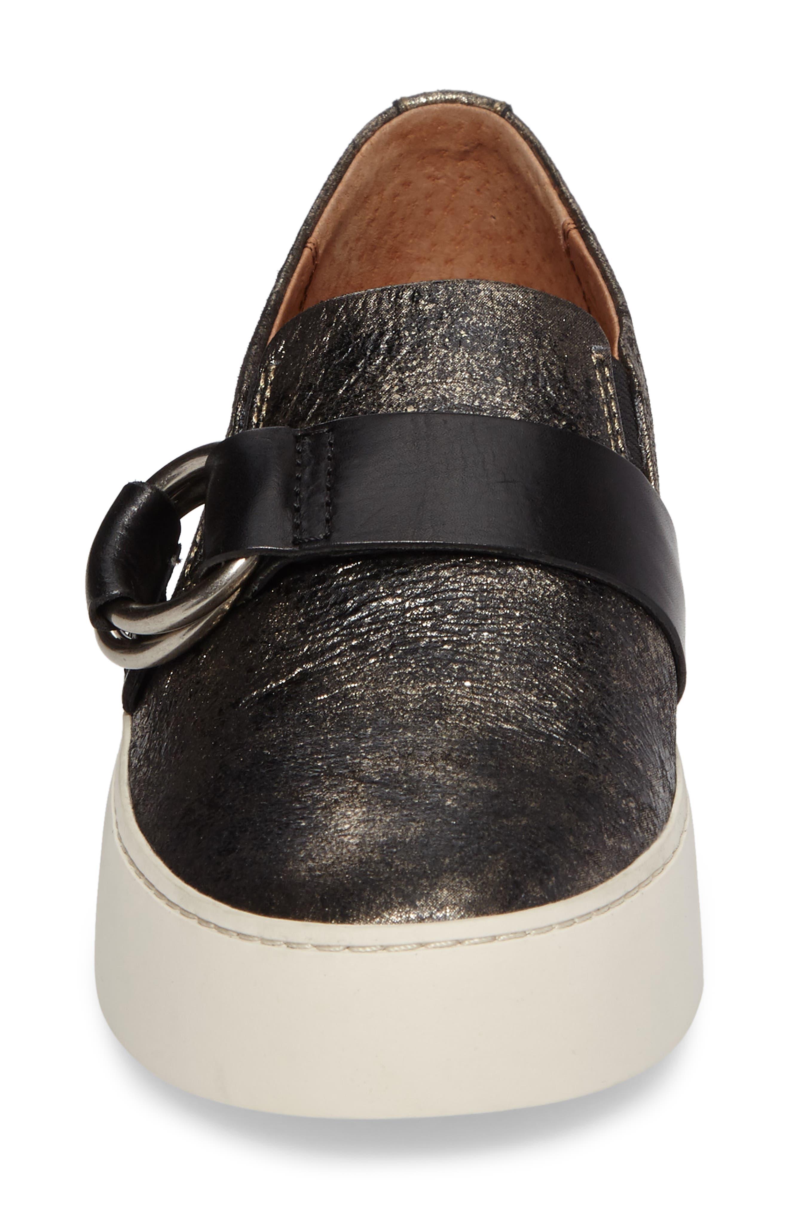 Lena Harness Slip-On Sneaker,                             Alternate thumbnail 4, color,                             Gunmetal