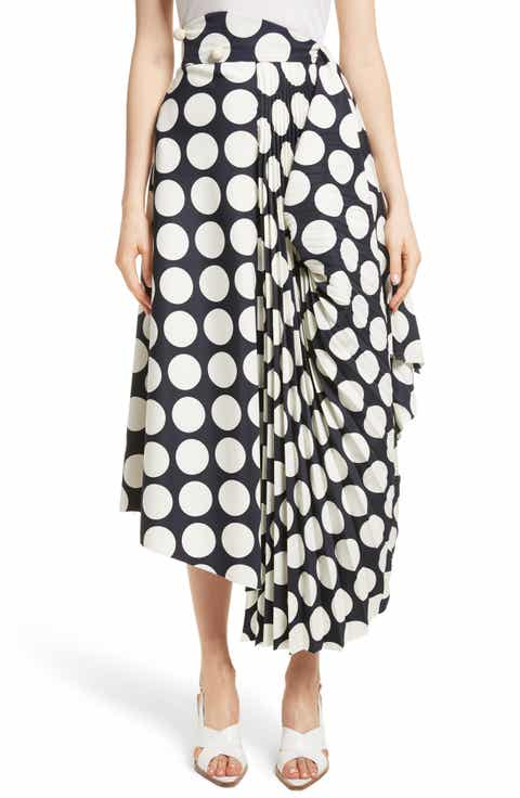 A.W.A.K.E. Giant Polka Dot Pleated Skirt