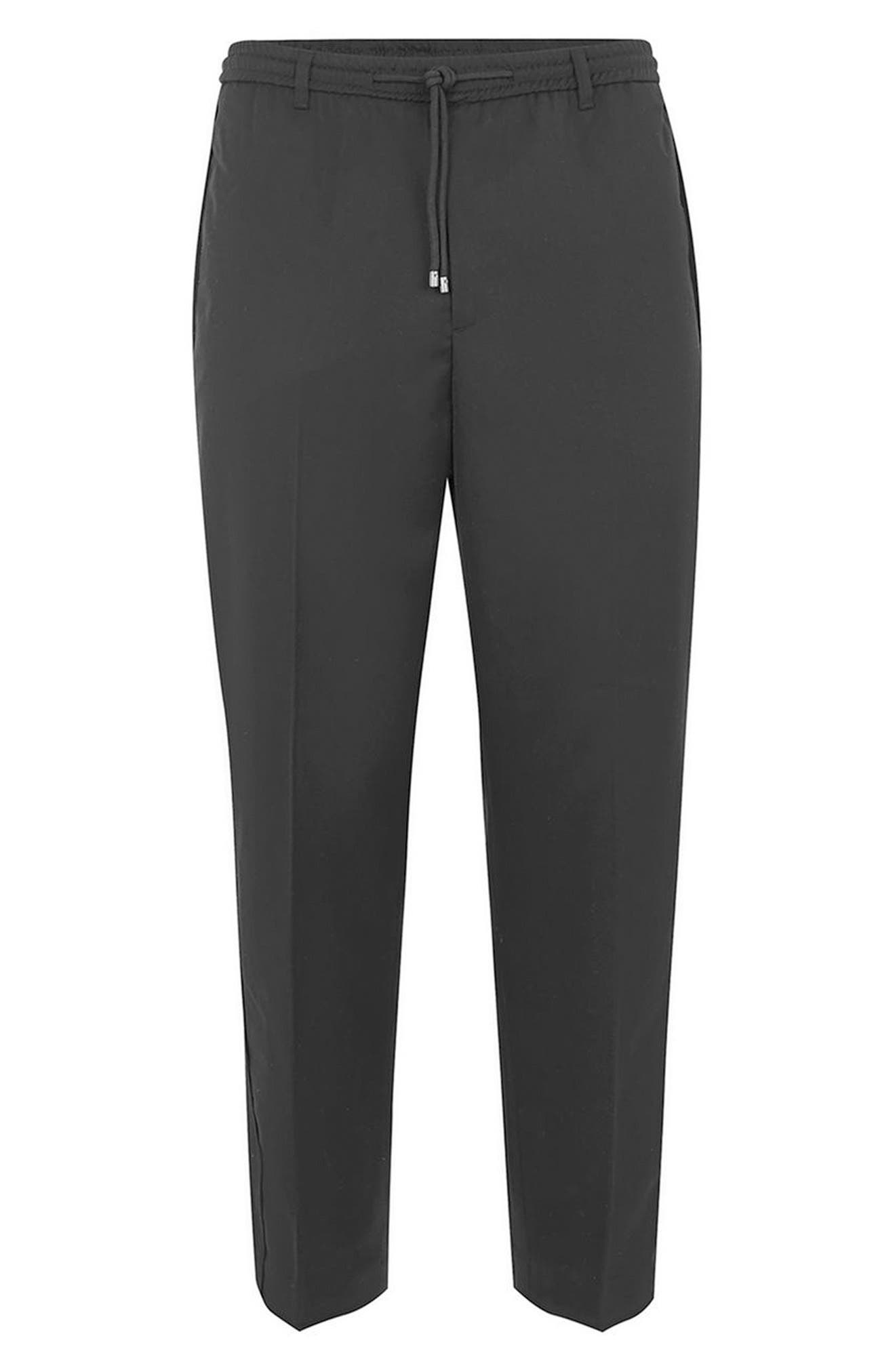 Side Zip Dress Pants,                             Alternate thumbnail 4, color,                             Black