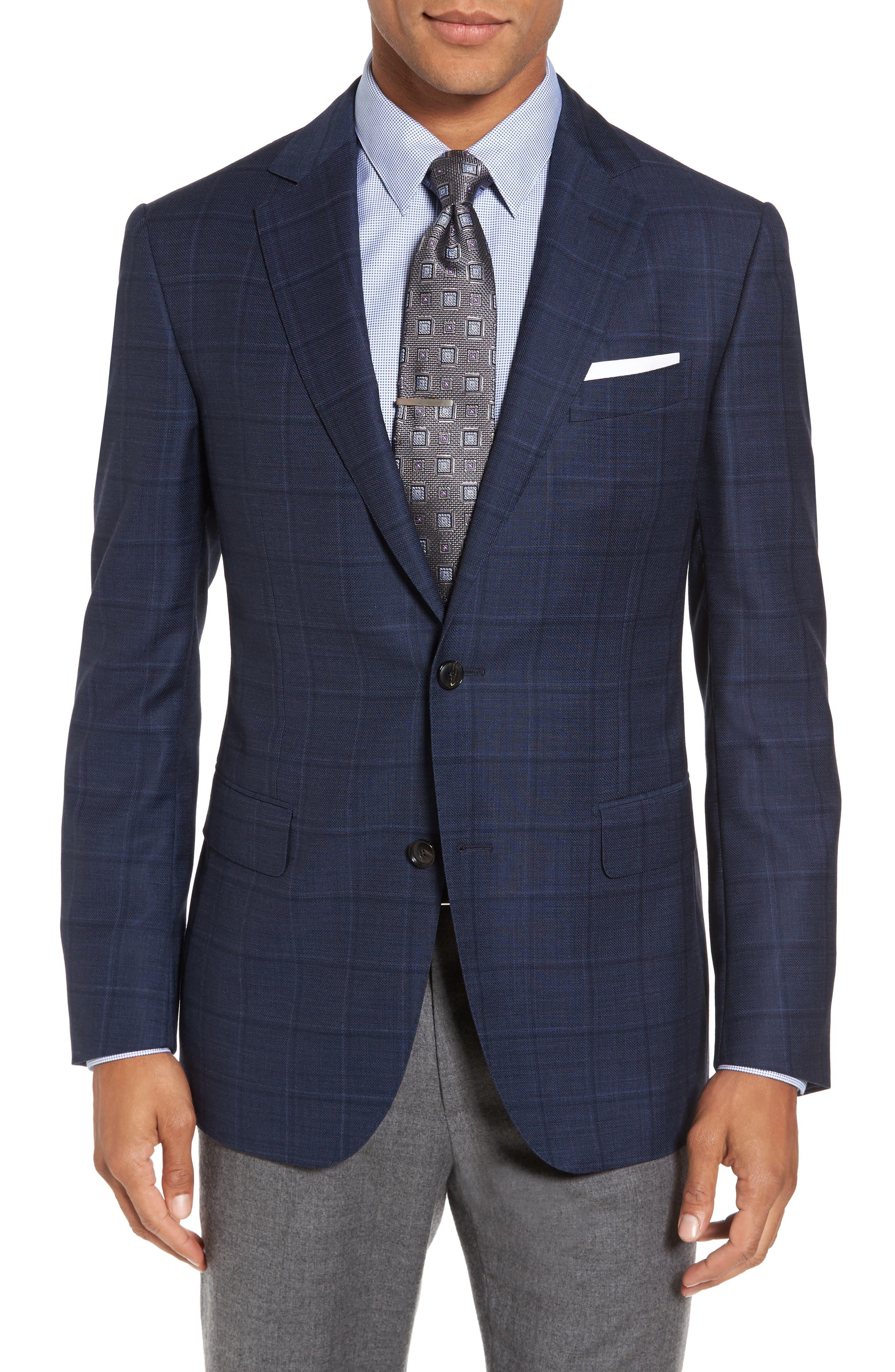 Alternate Image 1 Selected - Pal Zileri Classic Fit Windowpane Wool Sport Coat