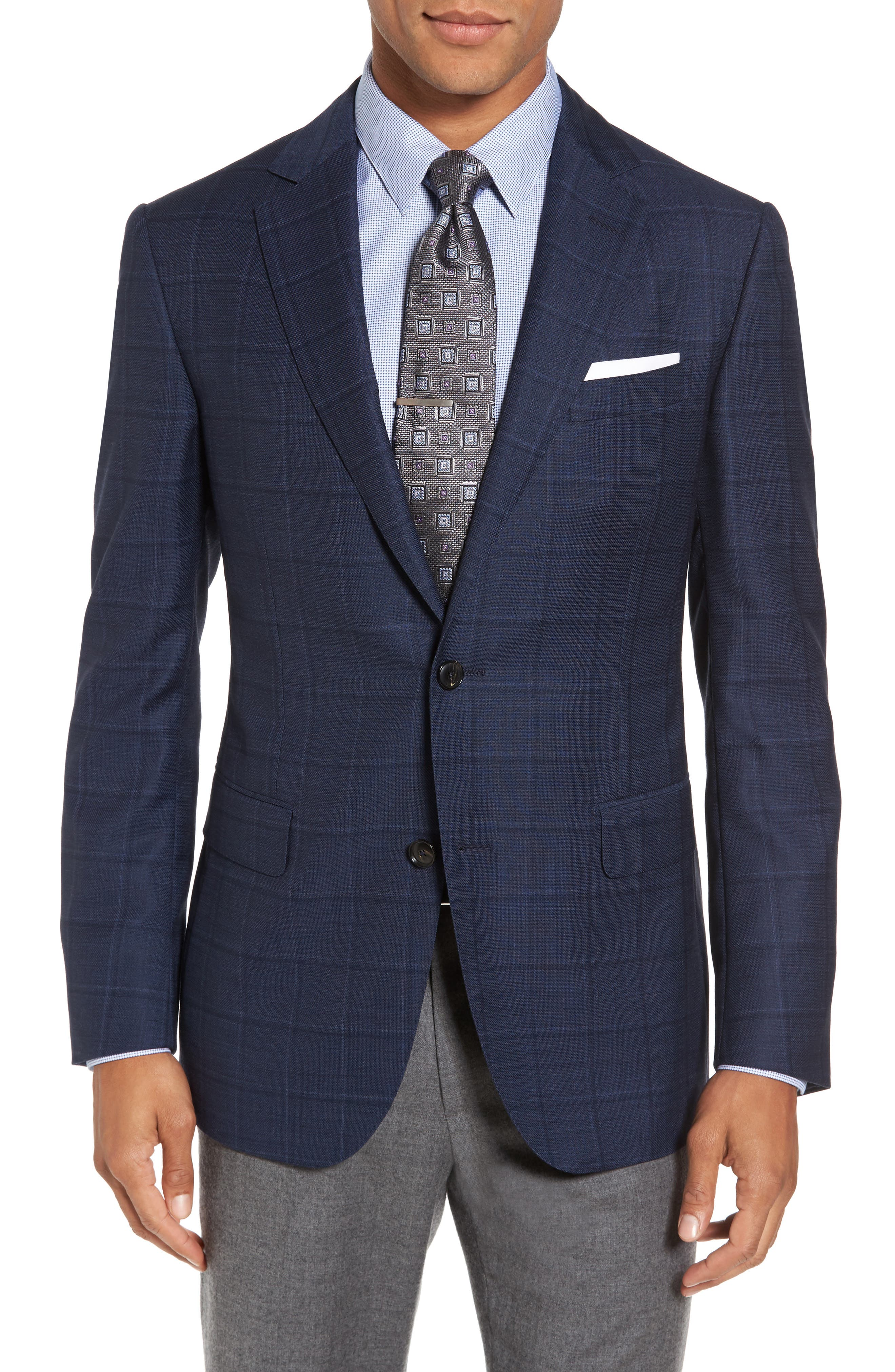 Main Image - Pal Zileri Classic Fit Windowpane Wool Sport Coat
