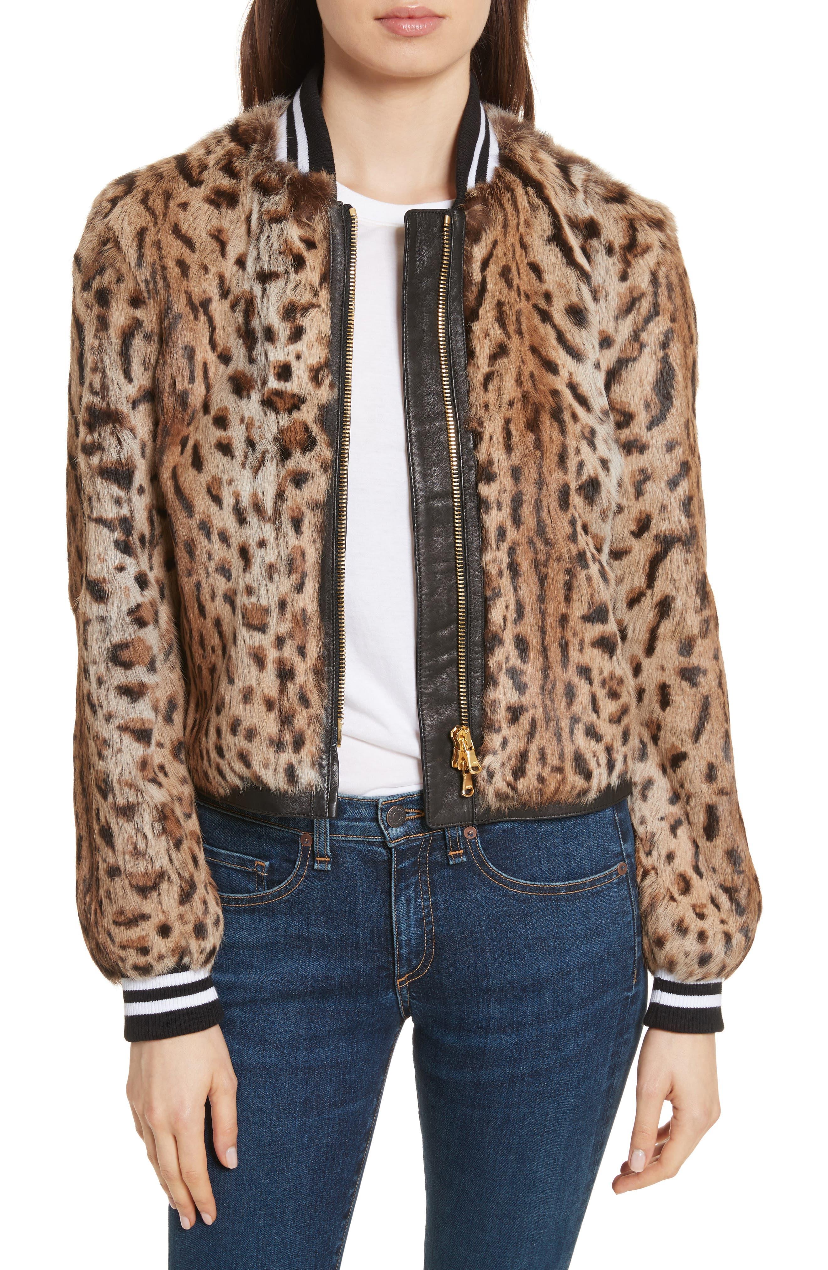 Veronica Beard Etta Genuine Rabbit Fur Jacket