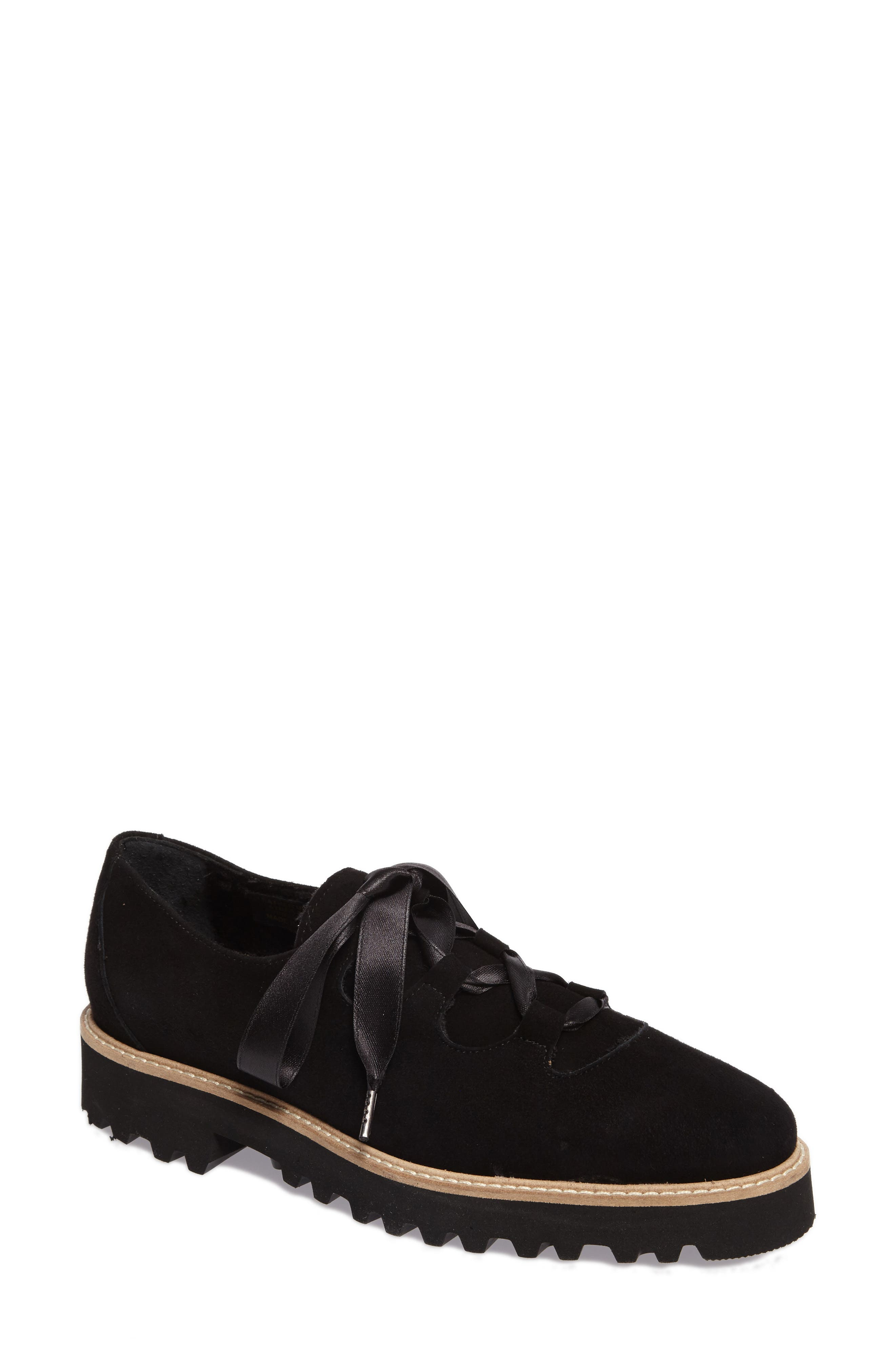 Daisy Water Resistant Oxford,                             Main thumbnail 1, color,                             Onyx Suede