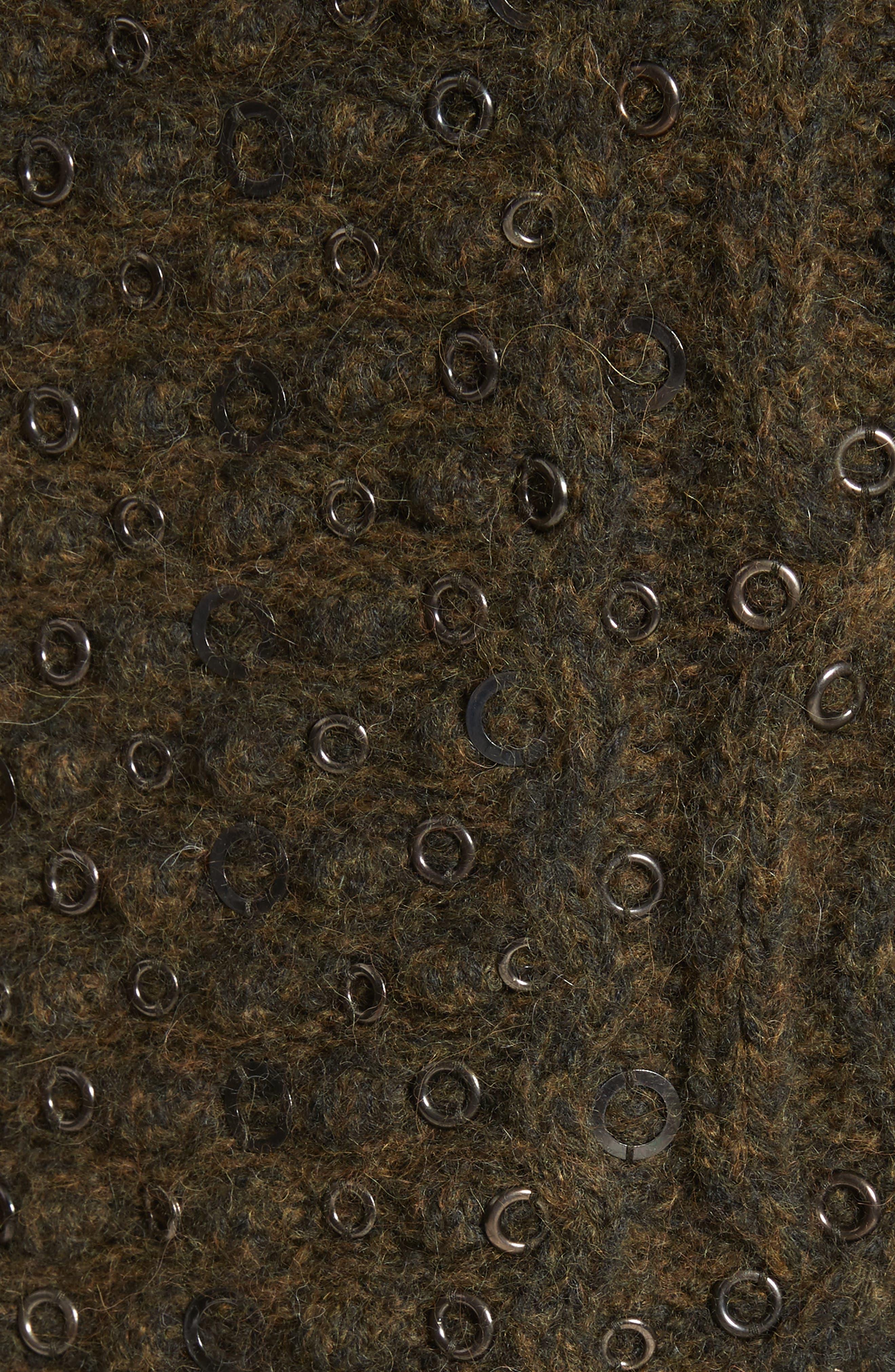 Jemima Wool & Alpaca Blend Beaded Sweater,                             Alternate thumbnail 5, color,                             Army
