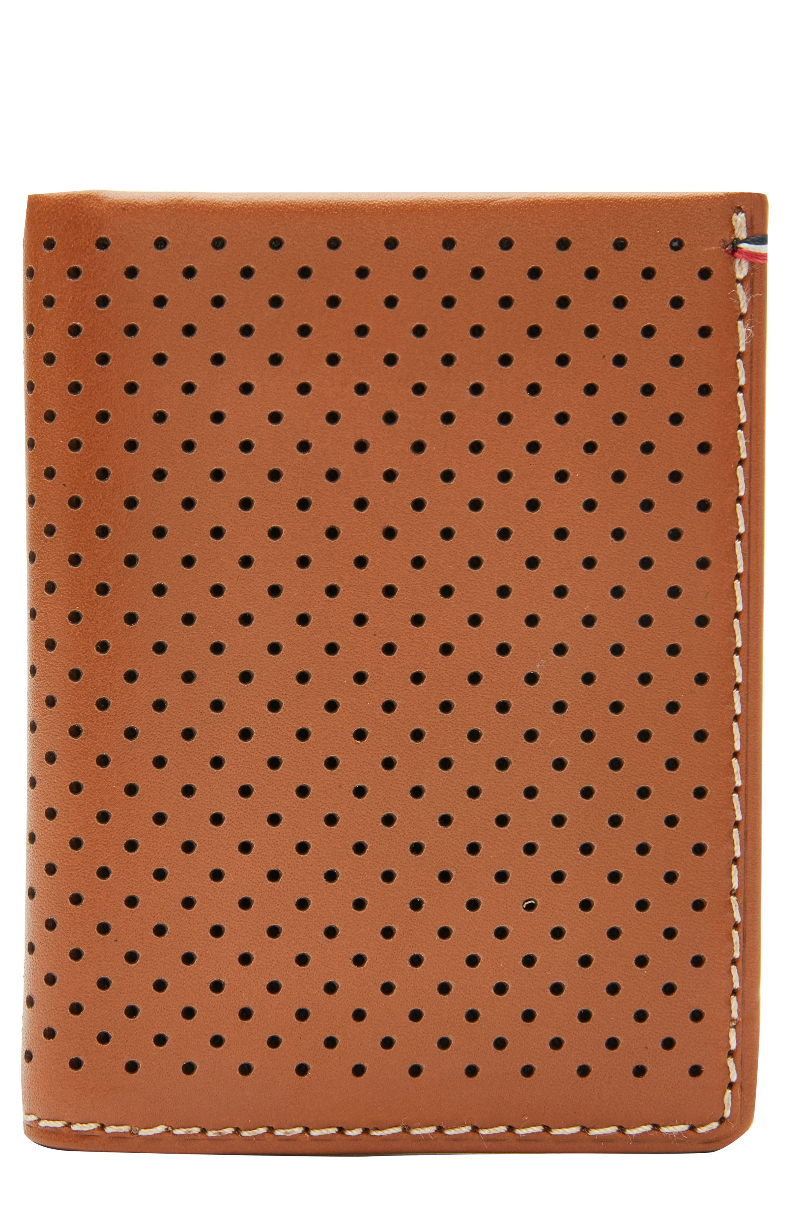 Jack Mason Perforated Leather Wallet