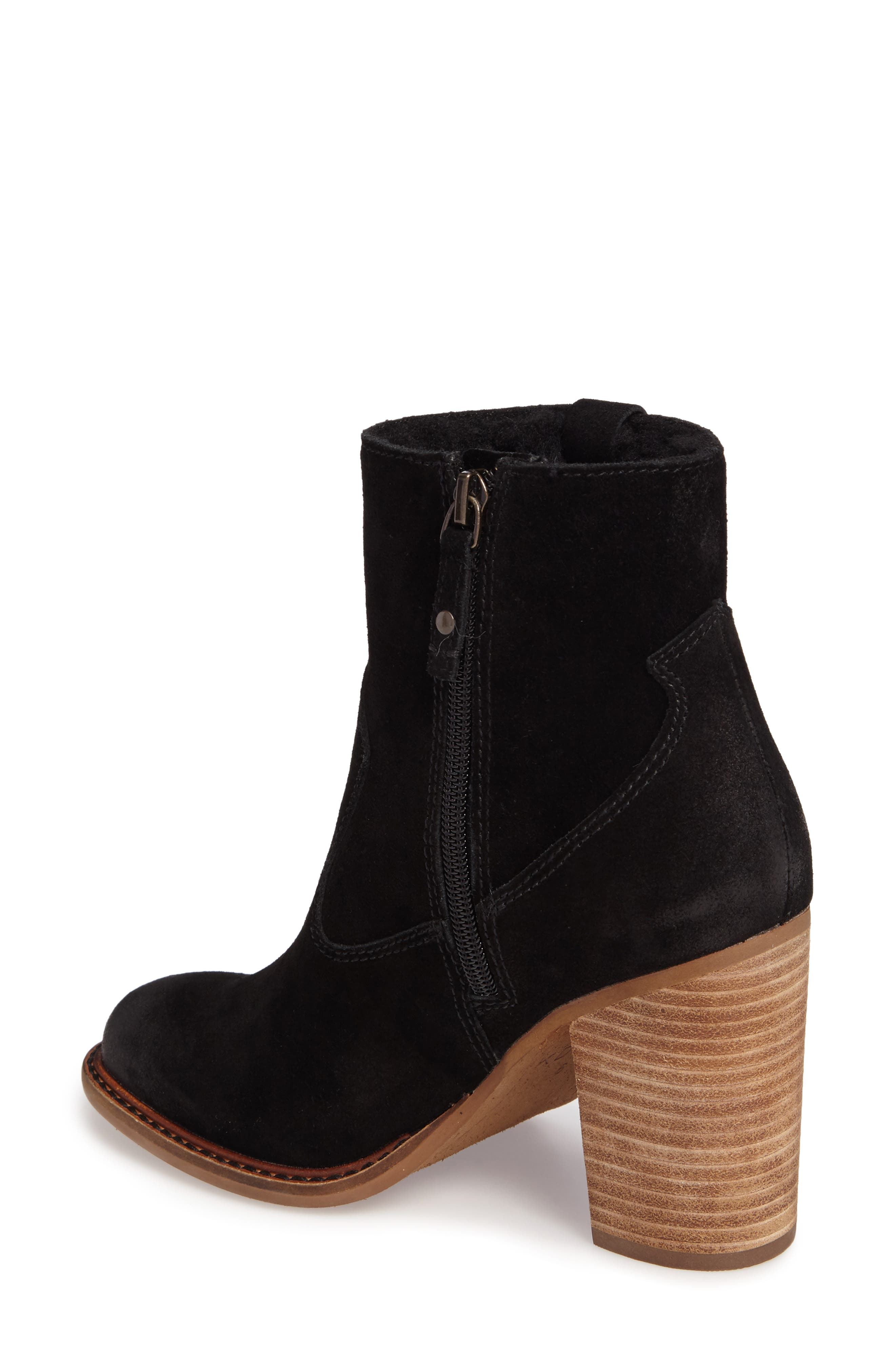 Legion Bootie with Faux Shearling Lining,                             Alternate thumbnail 2, color,                             Black