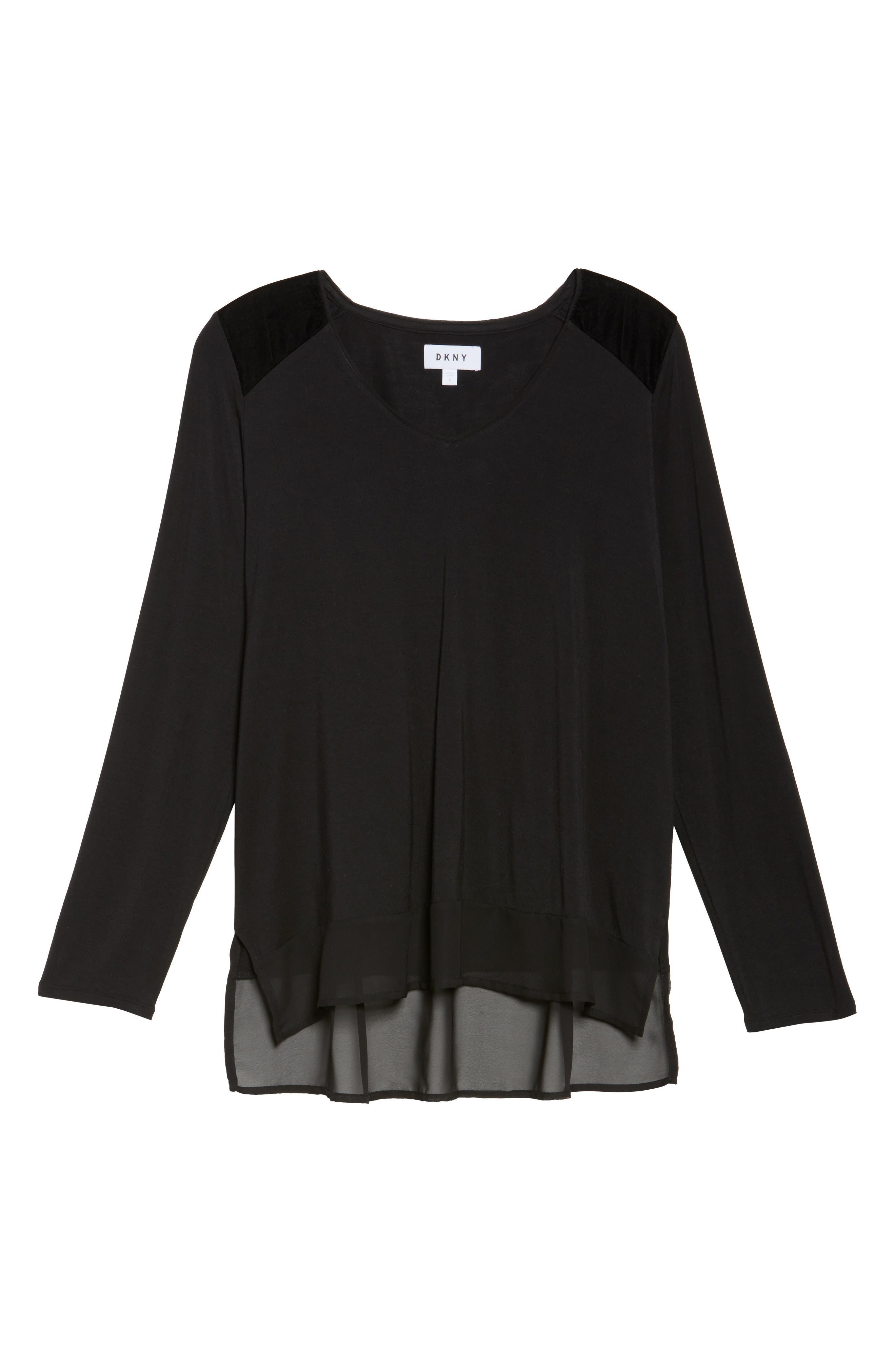 Alternate Image 4  - DKNY Jersey Top