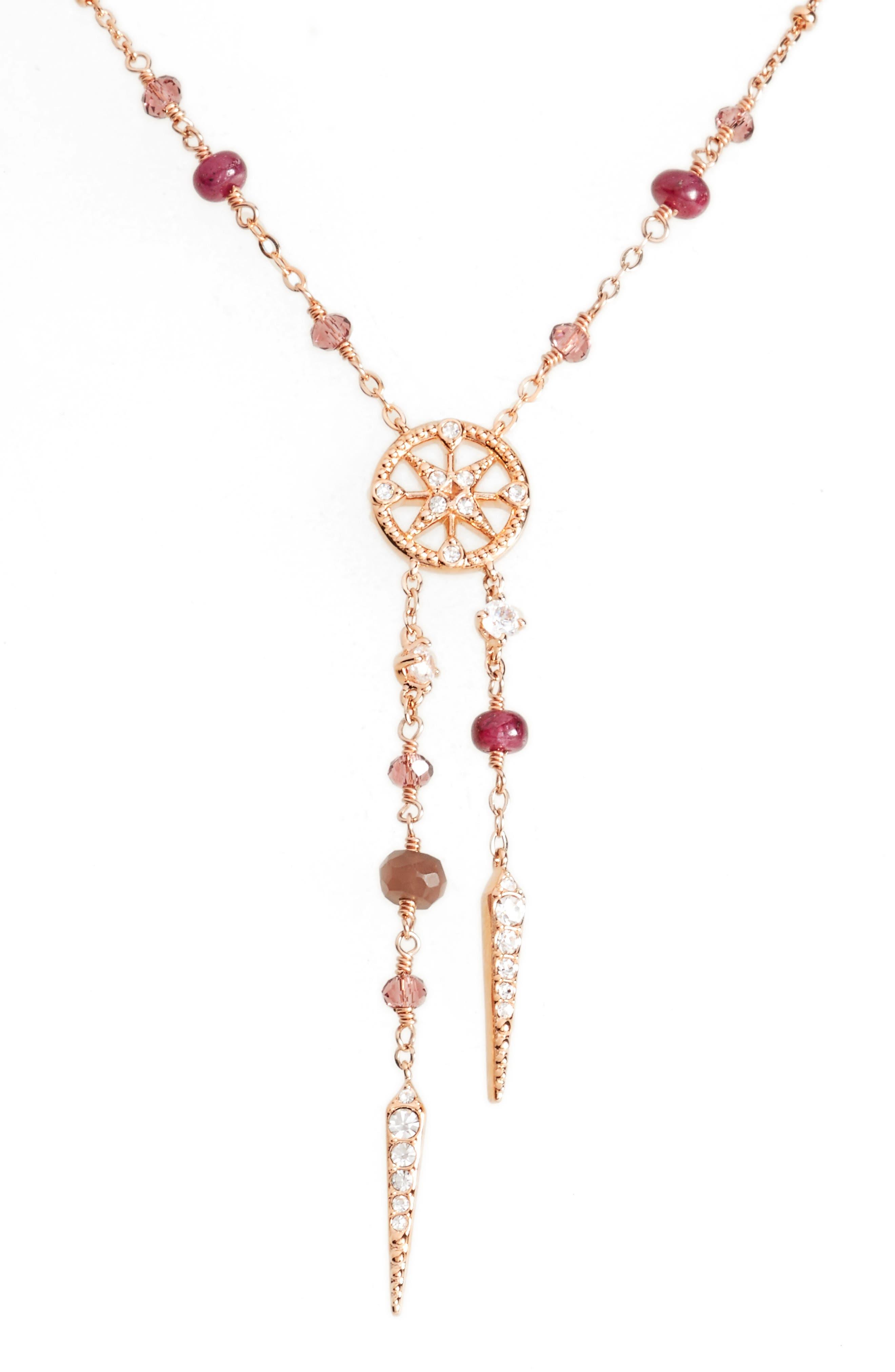 Alternate Image 2  - Nadri Crystal & Semiprecious Stone Y-Necklace