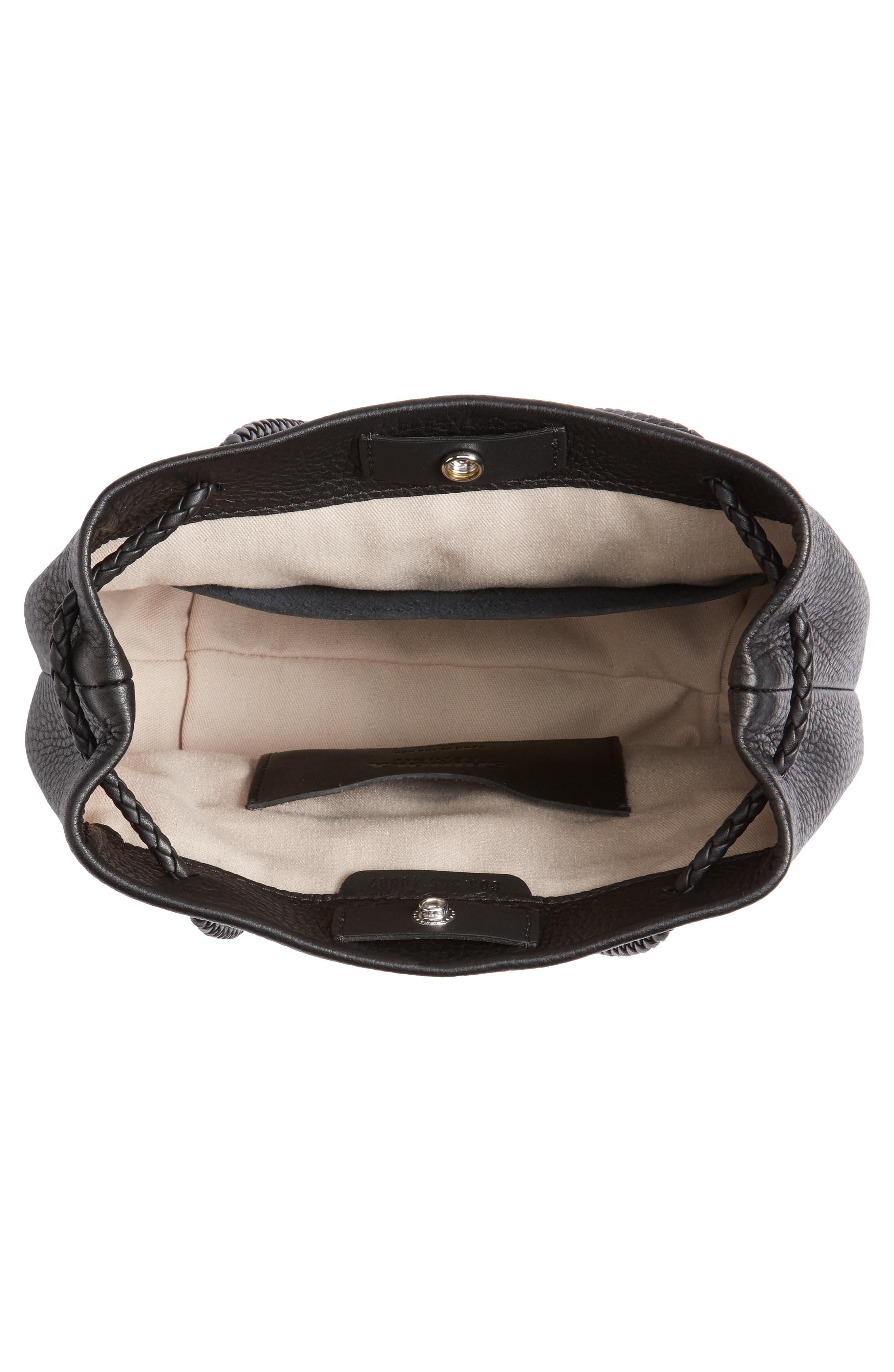 Alternate Image 4  - Shinola Mini Pebbled Leather Drawstring Crossbody Bag