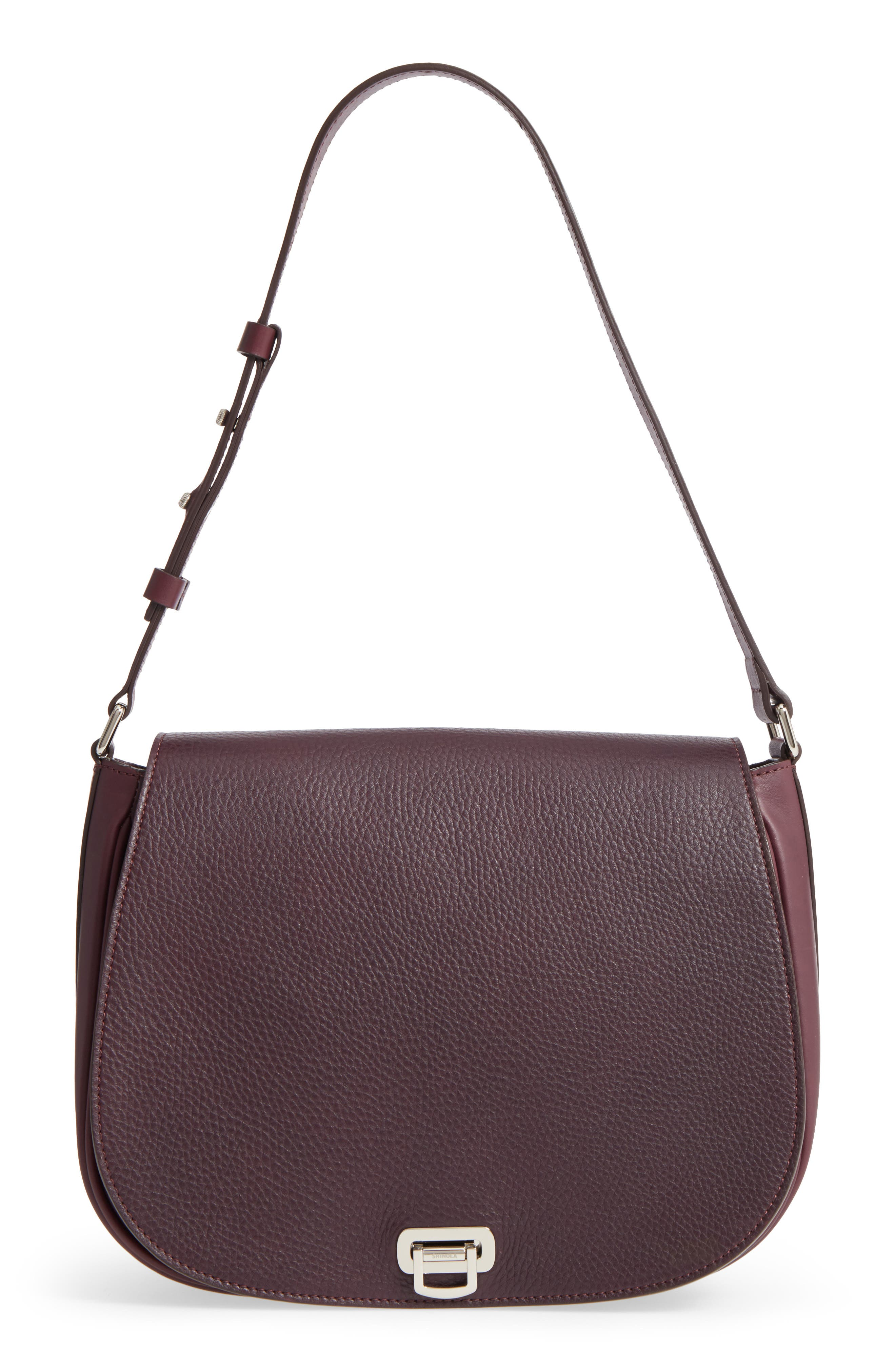 Shinola Calfskin Leather Shoulder Bag