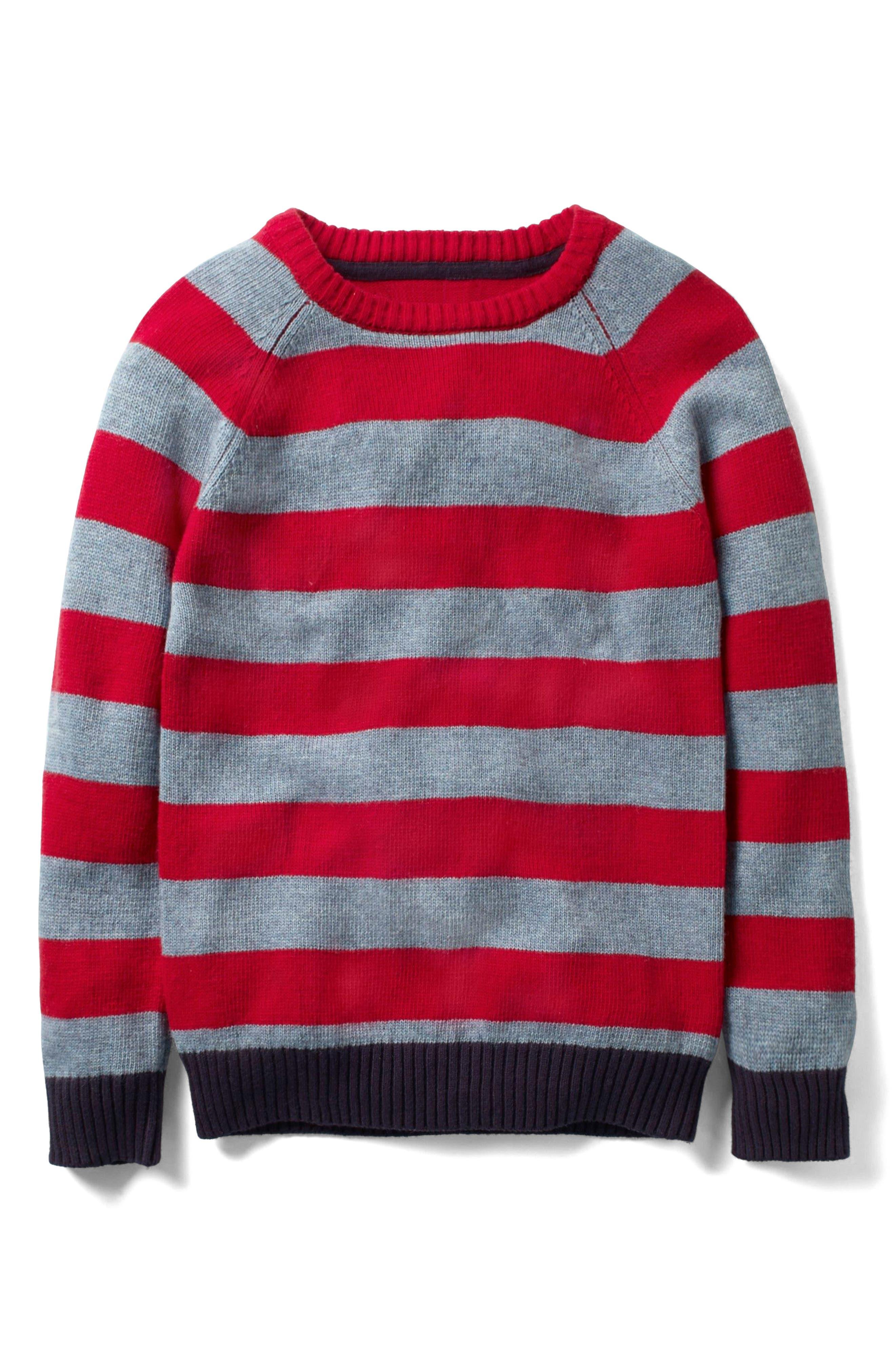 Mini Boden Striped Crewneck Sweater (Toddler Boys, Little Boys & Big Boys)