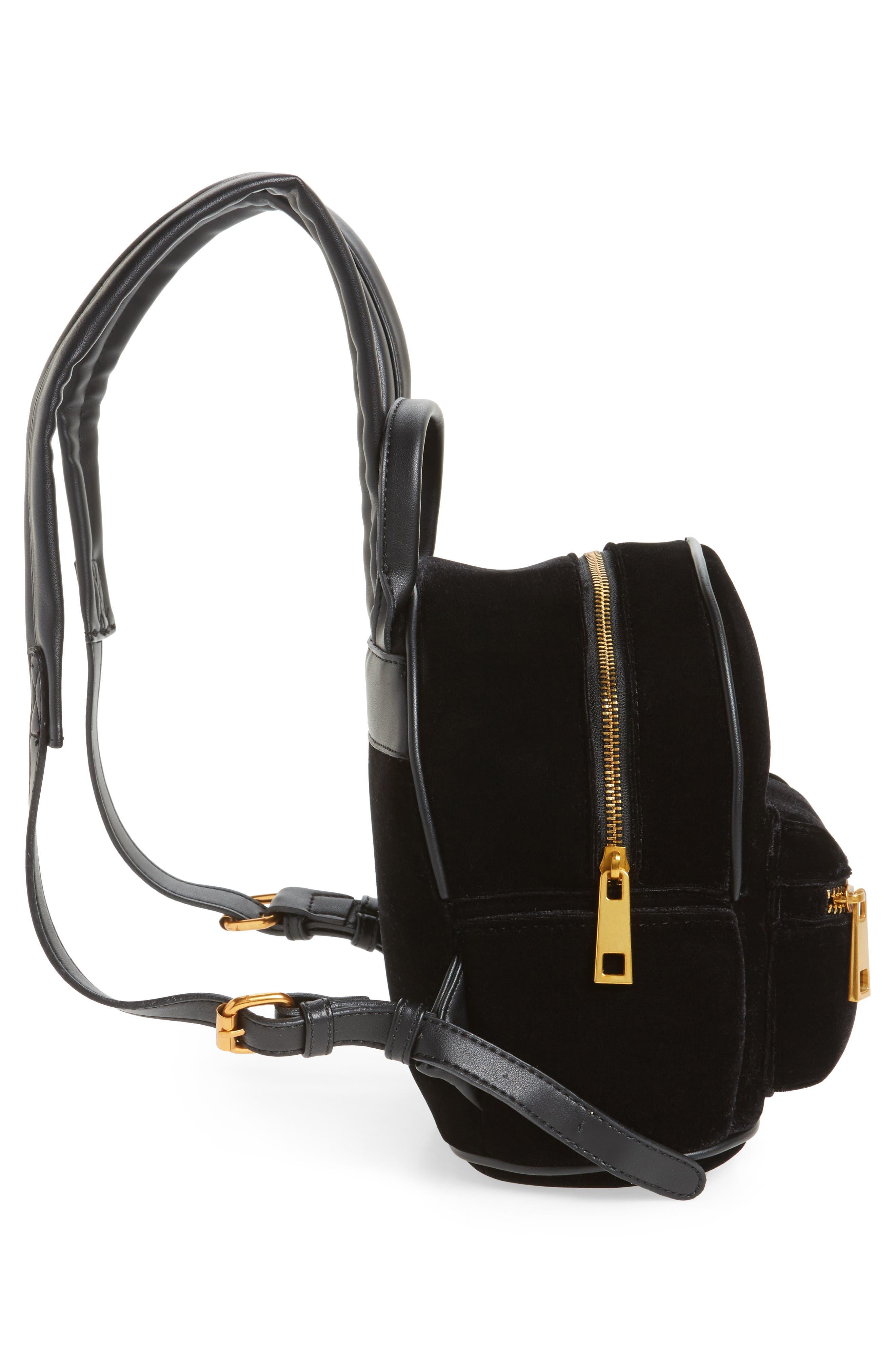 Velvet Backpack,                             Alternate thumbnail 4, color,                             Black