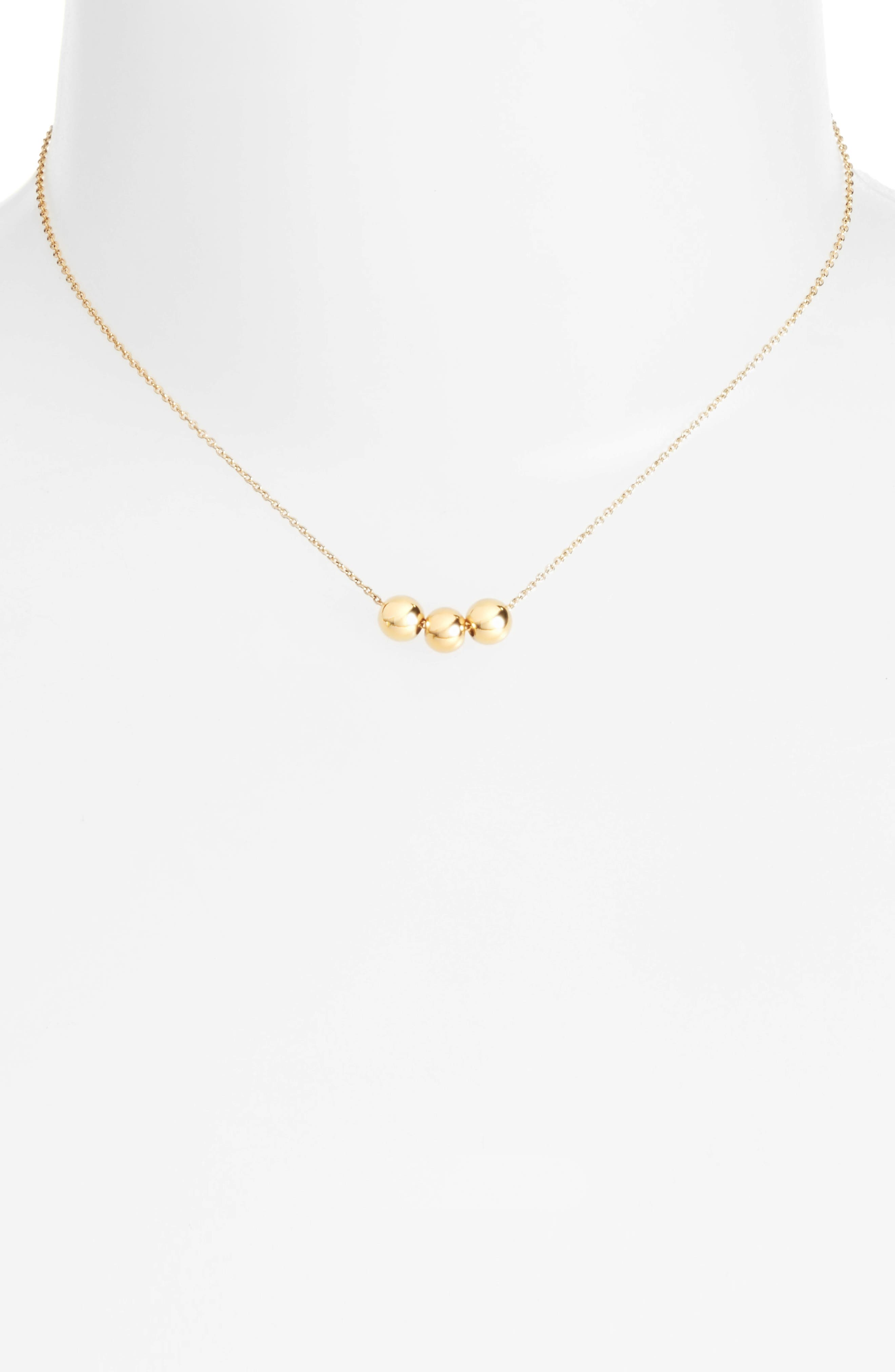Gorjana Newport Three-Bead Golden Adjustable Necklace wfblOyVc2s